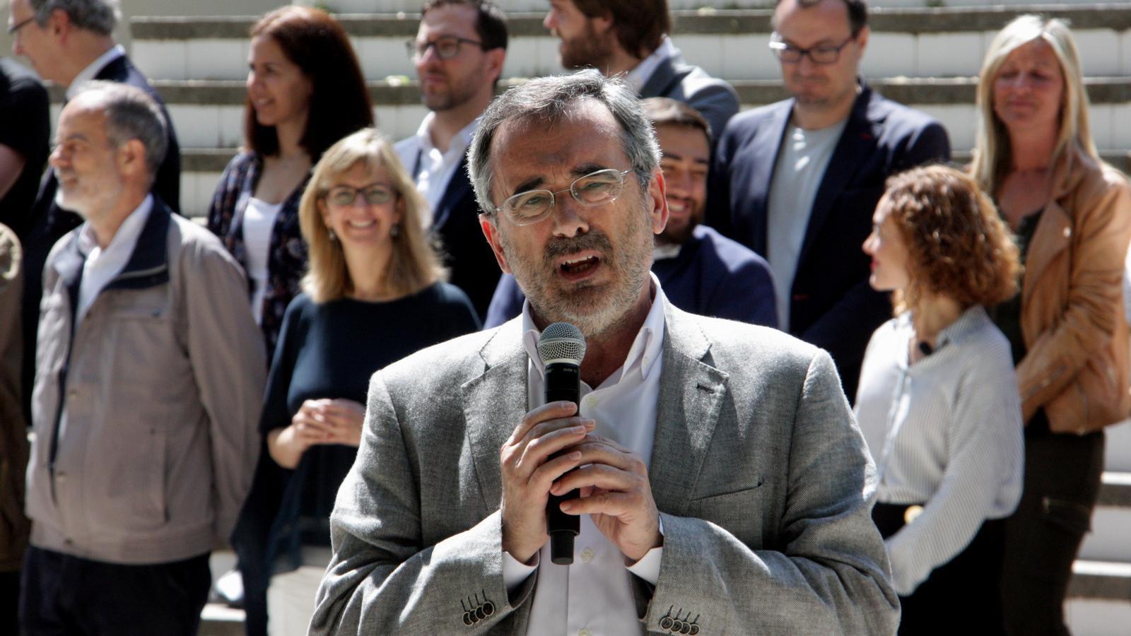 Manuel Cruz, durant la campanya socialista de les generals del 2016