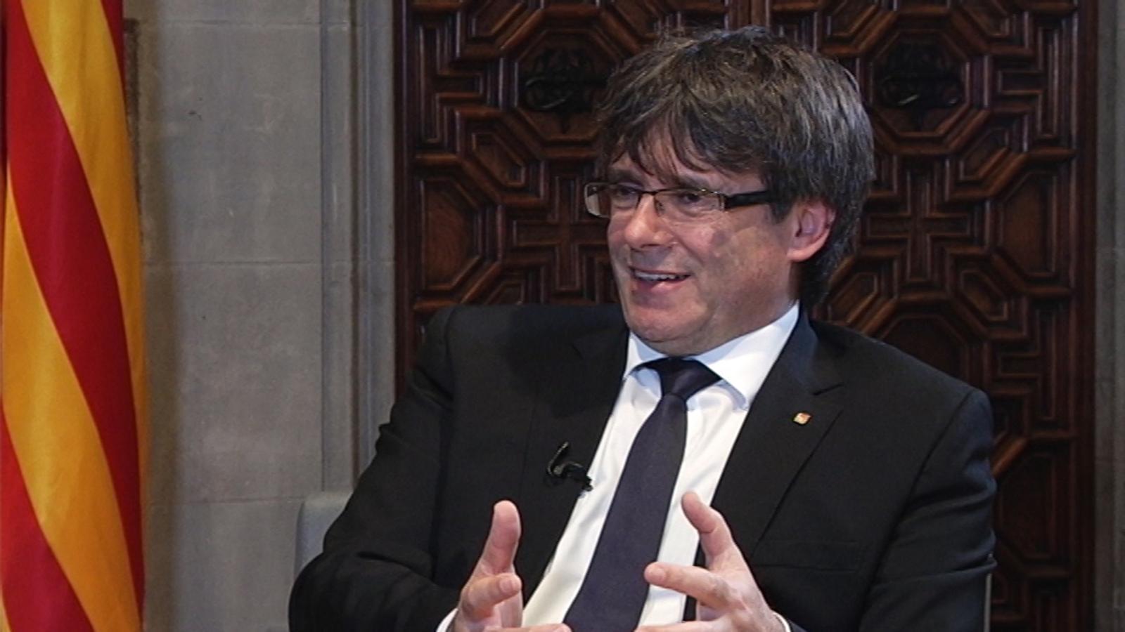 """Carles Puigdemont: """"Estaria disposat a participar en un debat cara a cara amb Mariano Rajoy al Congrés"""""""