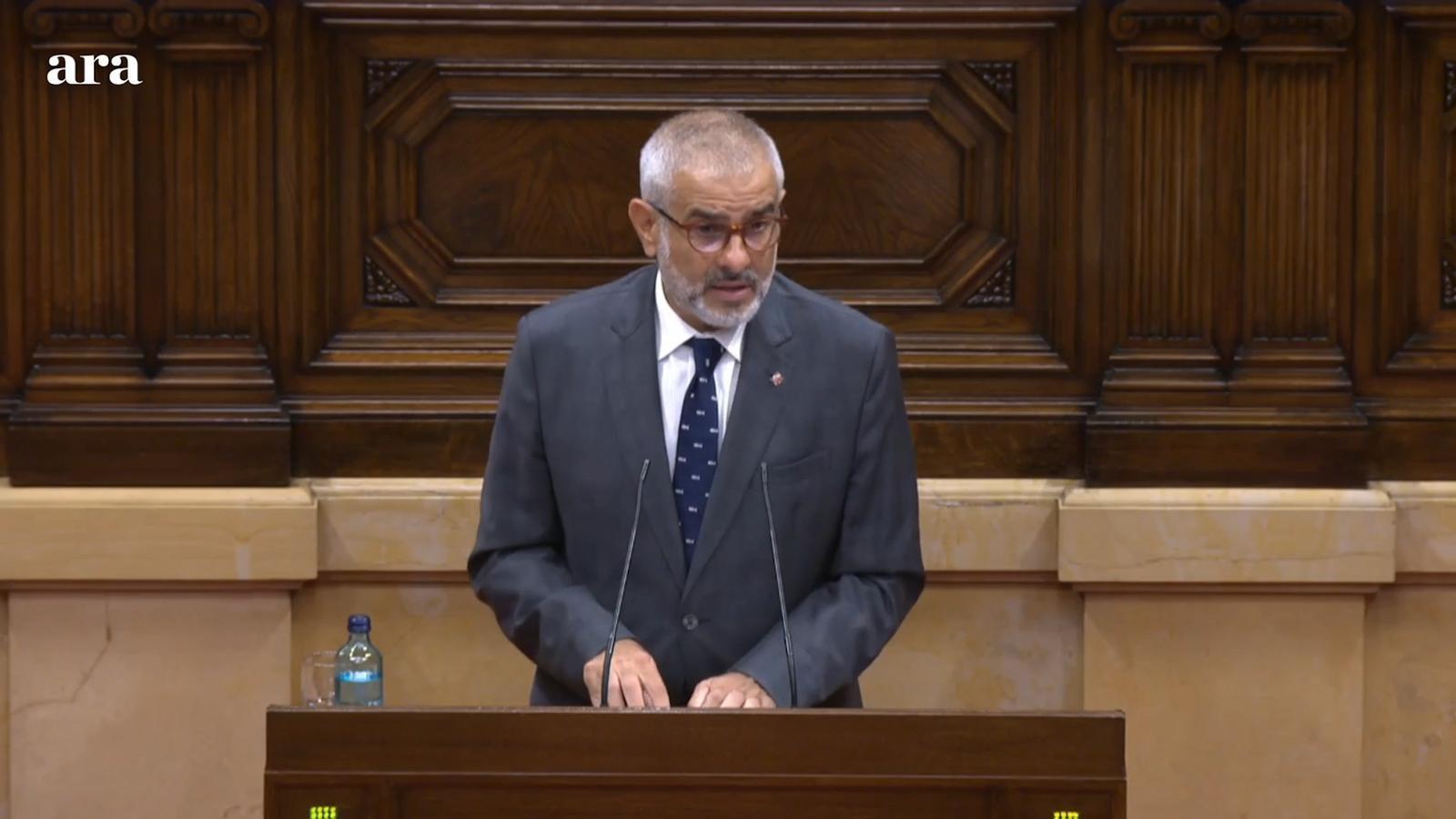 """Carrizosa (Cs): """"No aconseguiran empobrir més Catalunya, recuperarem Catalunya. Senyor Torra adeu"""""""