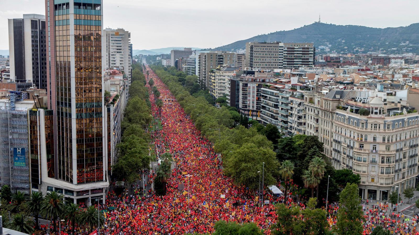 Imatge de la manifestació de la Diada 2018