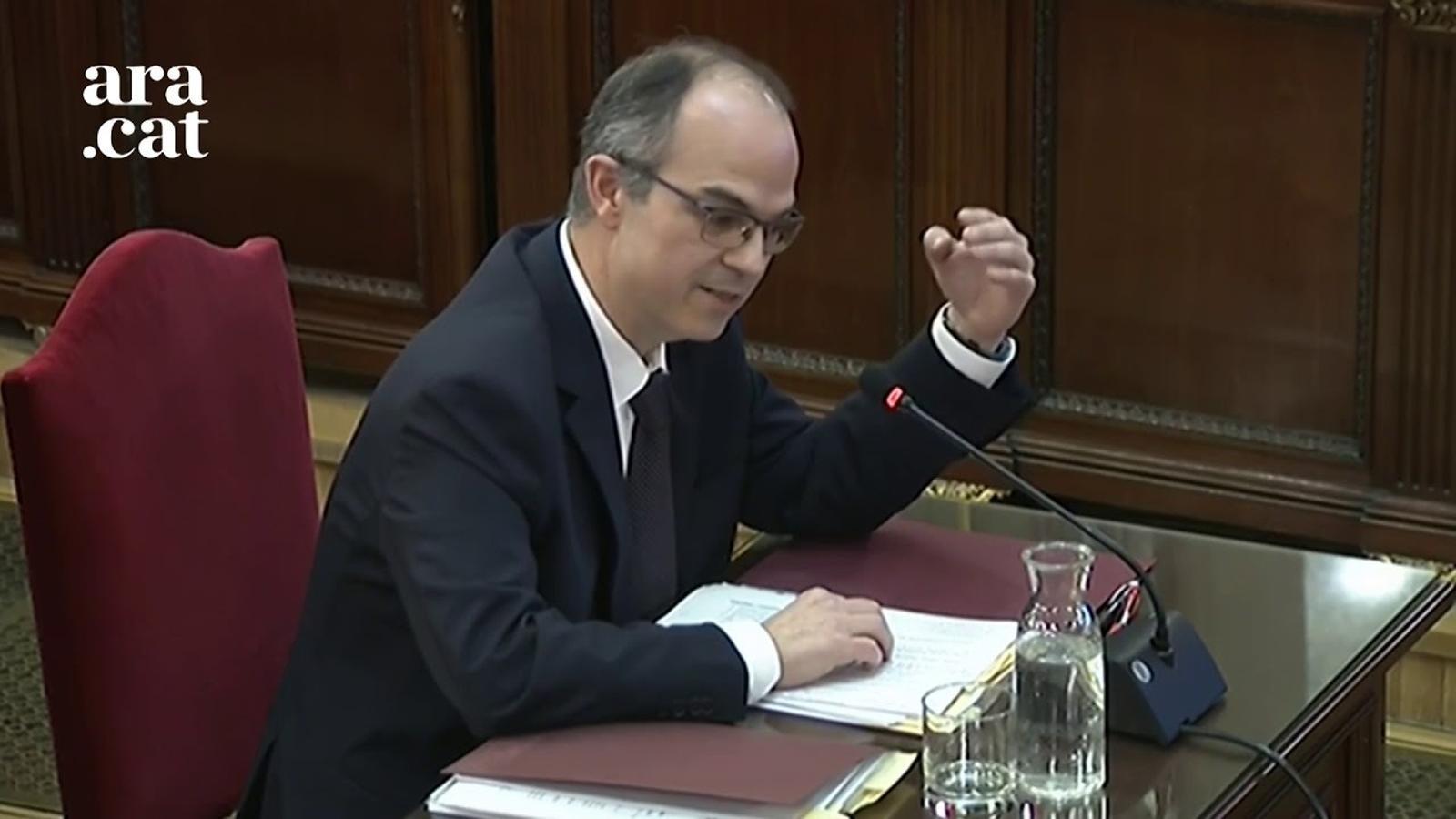 """Turull: """"Els ciutadans de Catalunya no són ovelles, no són gent militaritzada"""""""
