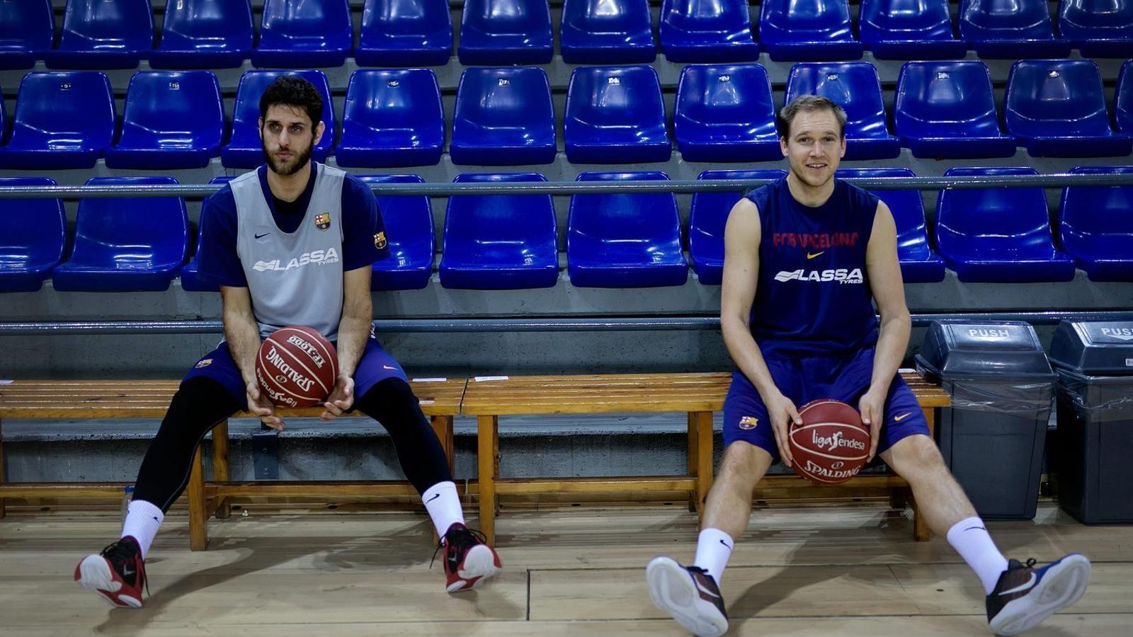 Stratos Perperoglou i Brad Oleson al Palau Blaugrana.