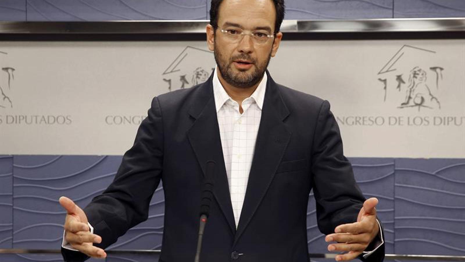 El portaveu del grup socialista al Congrés, Antonio Hernando / EFE