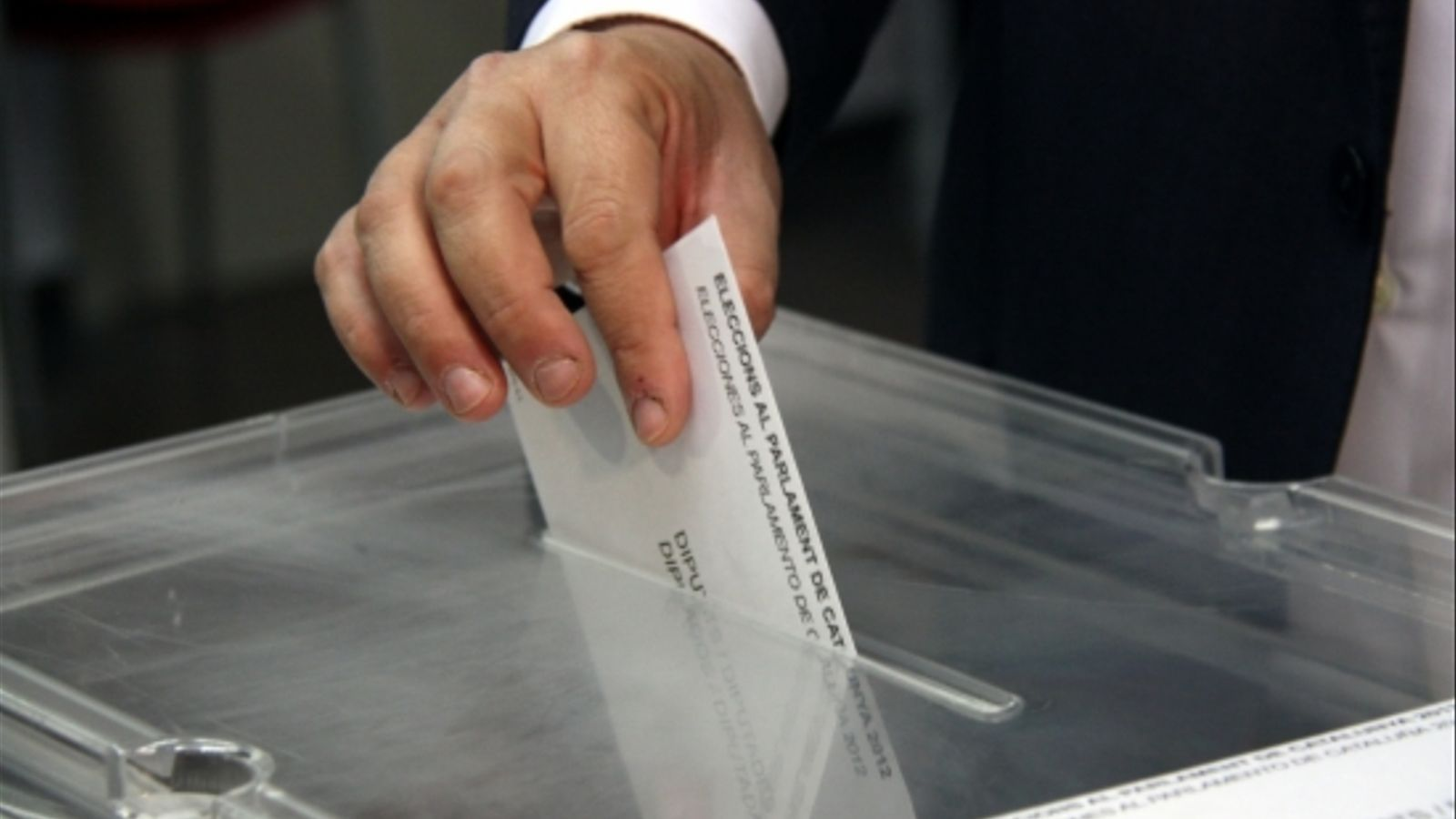 Votació a les passades eleccions catalanes