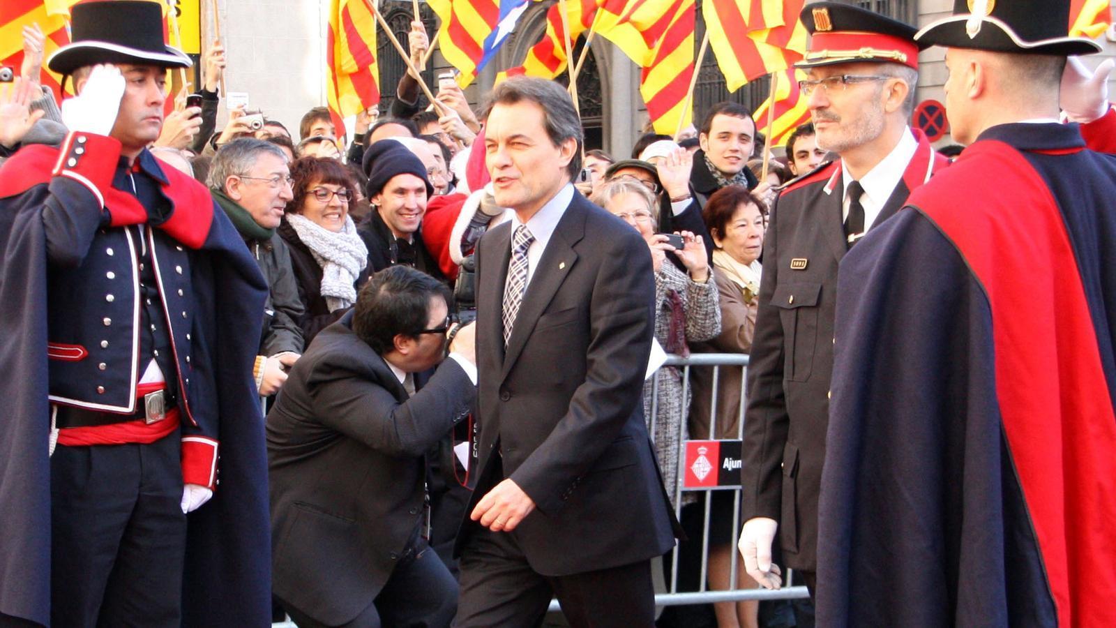 Artur Mas, a la sortida del Palau