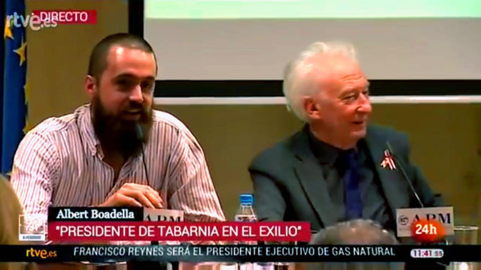 """El Canal 24 Horas de RTVE presenta Albert Boadella com """"el president de Tabàrnia"""""""
