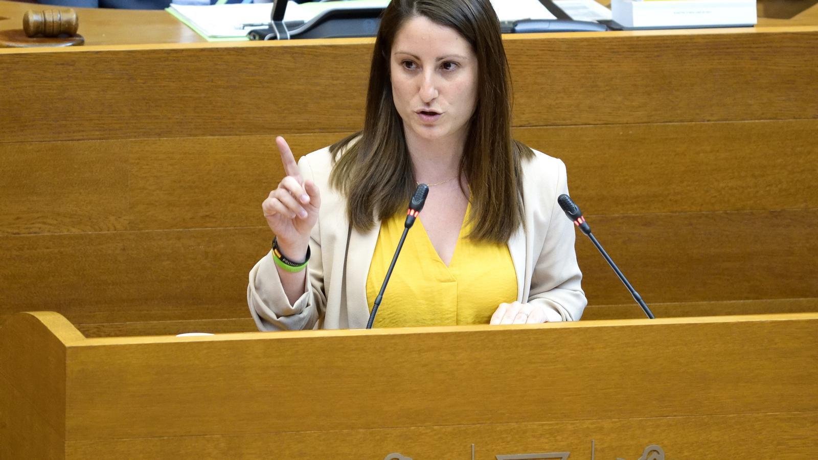 La portaveu adjunta de Vox al Parlament valencià, Ana Vega