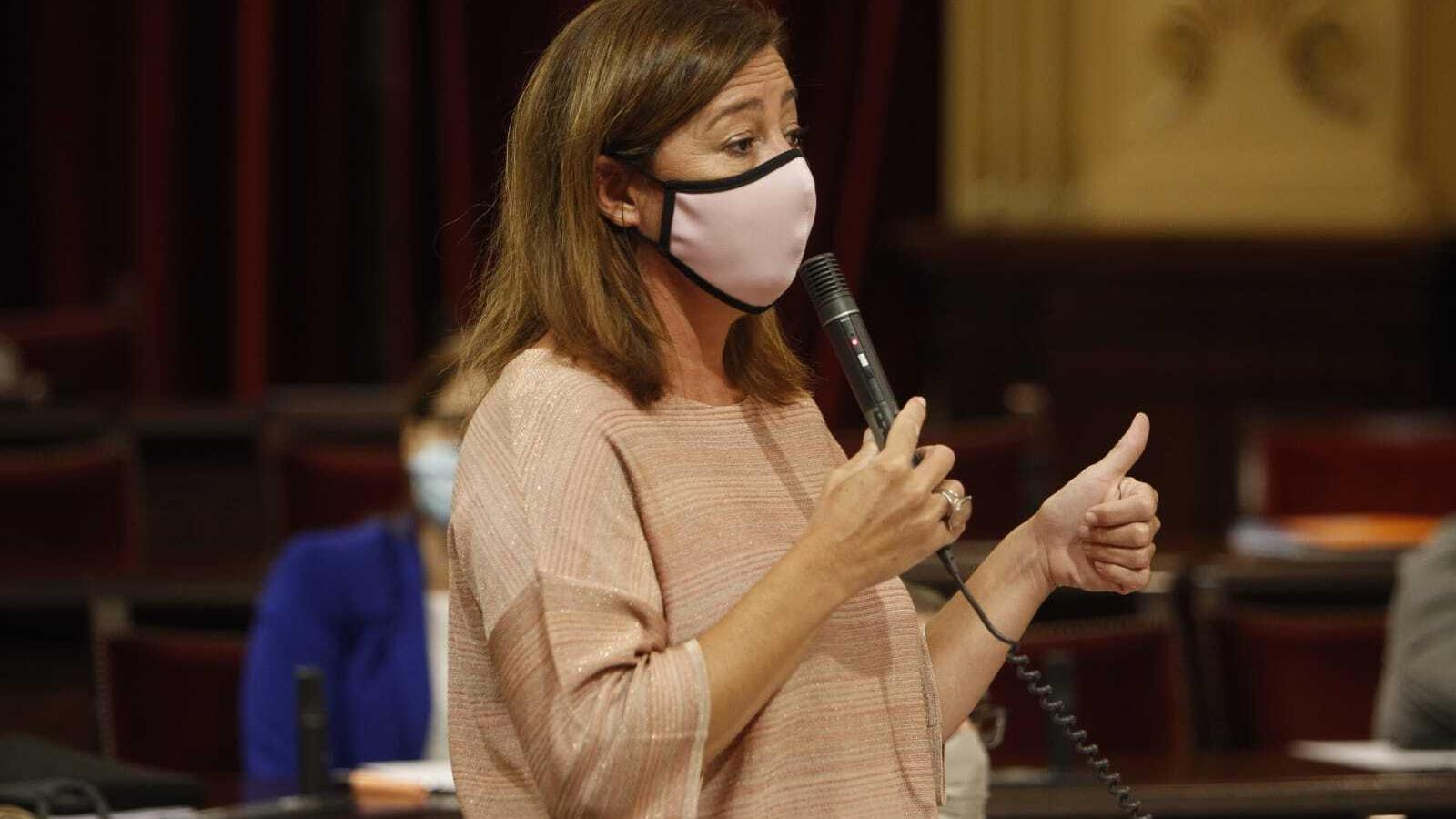 La presidenta del Govern, Francina Armengol, aquest dimarts en el Parlament
