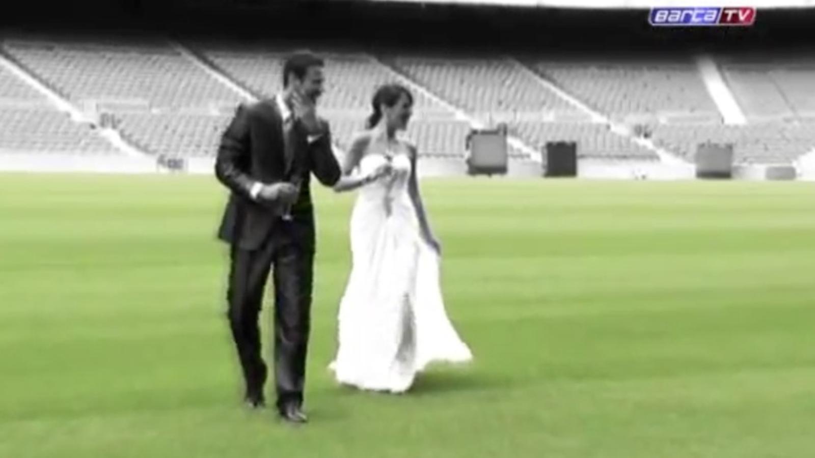 Primer casament al Camp Nou, dos socis del Barça del Masnou