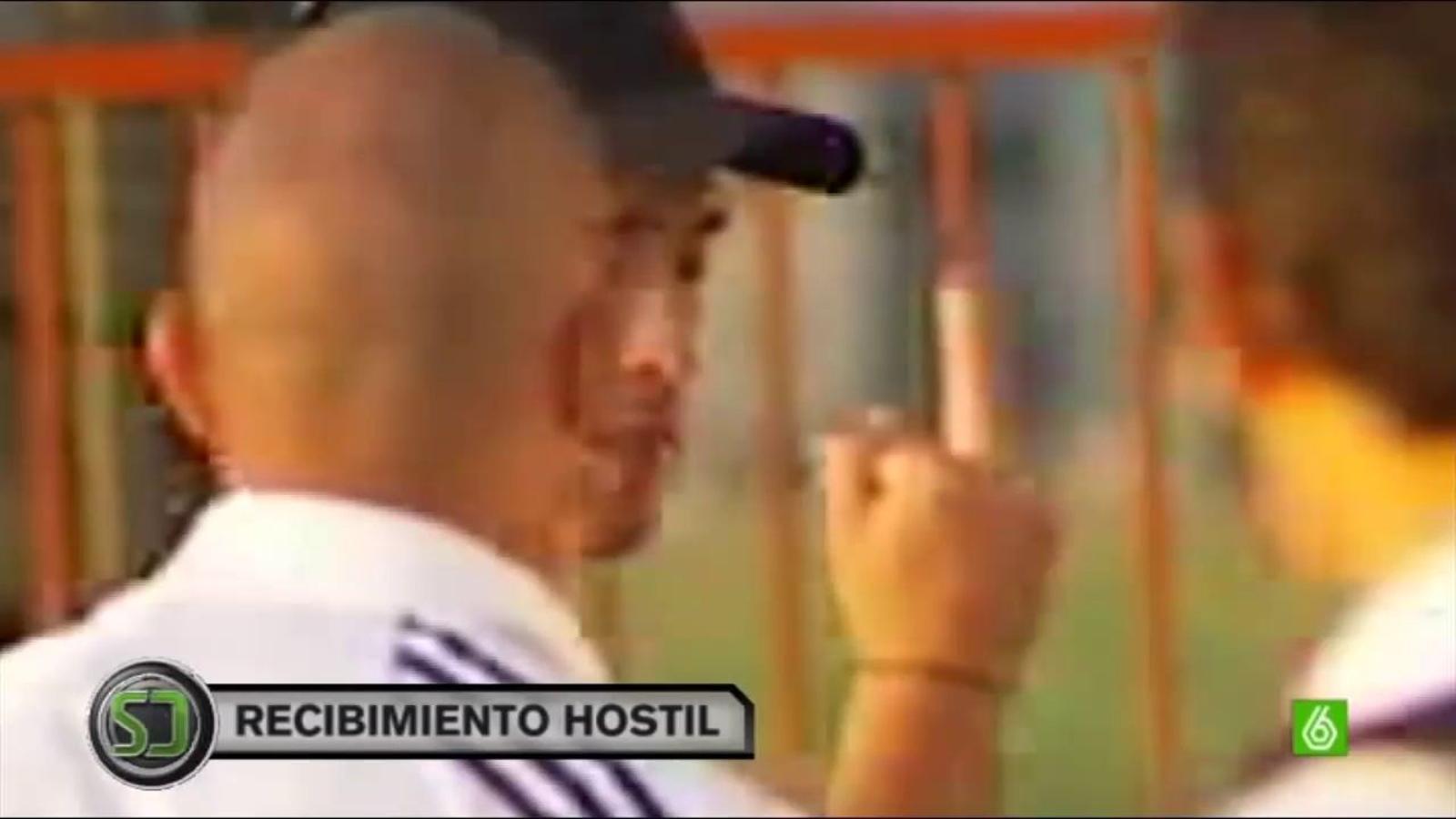 Cristiano Ronaldo dedica una botifarra als aficionats del Racing