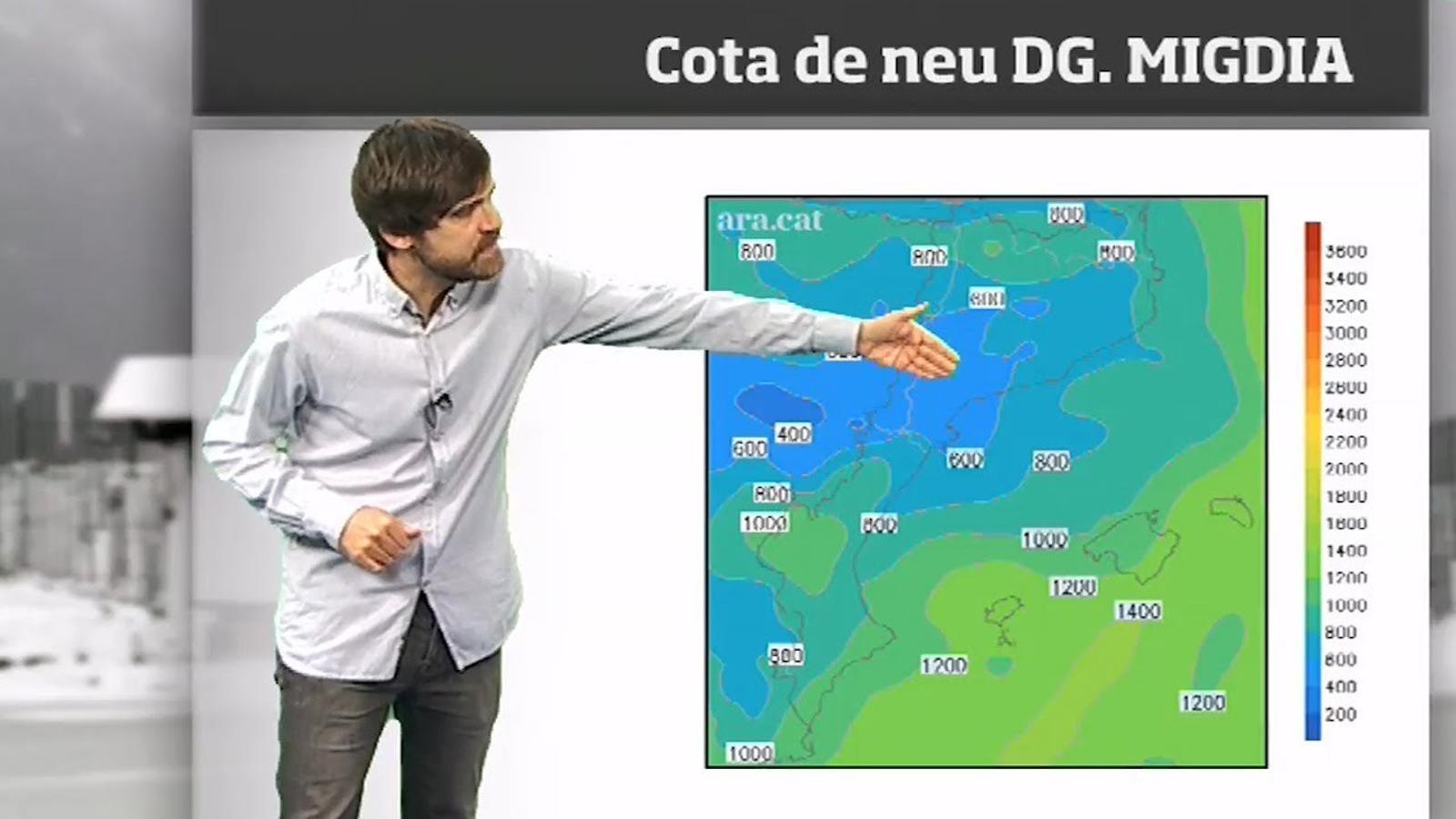 Méteo especial: cap de setmana de pluja, neu i 10 graus menys