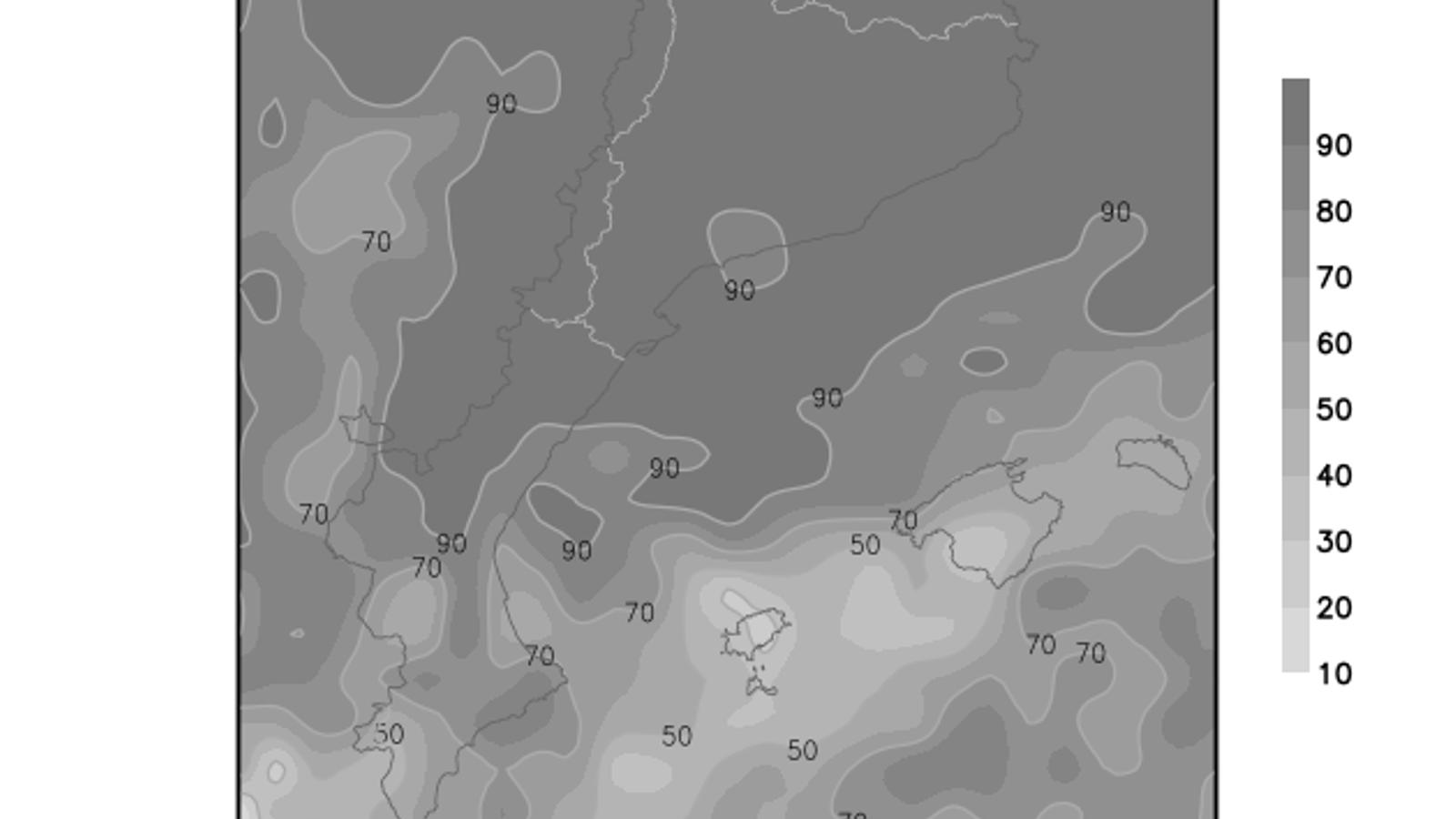 L'any 2021 comença amb pluges ocasionals i temperatures baixes a les Balears