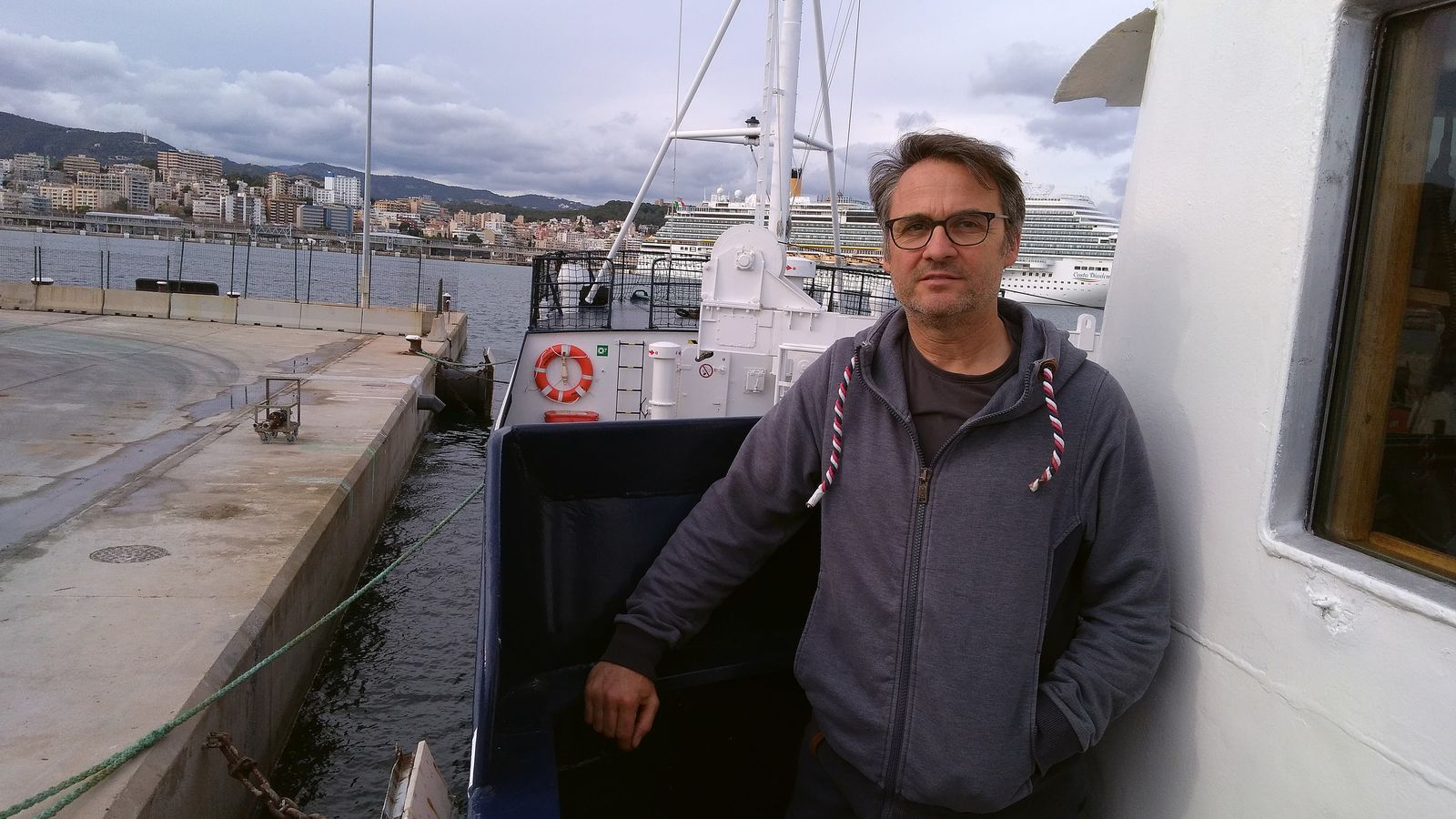 El capità del 'Professor Albrecht Penck', Klaus Merkle