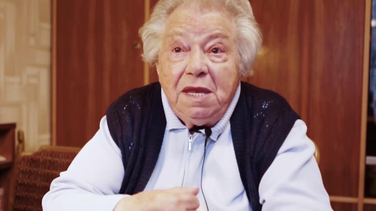 Frau Gertrude, víctima de l'holocaust, demana el vot per Alexander Van Der Bellen