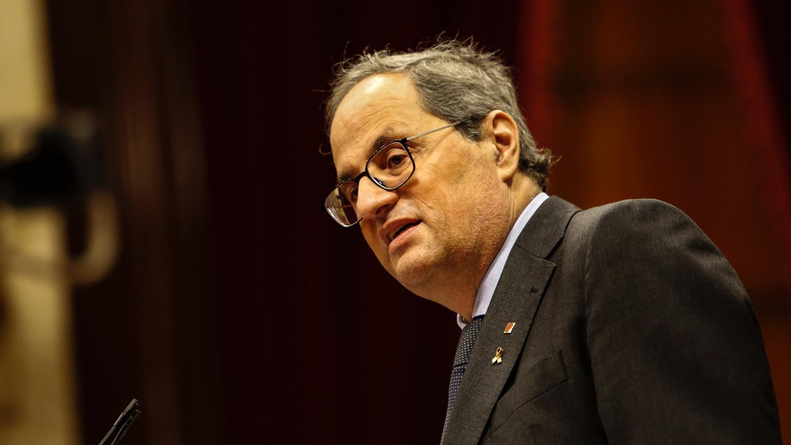 """Torra acusa el Suprem d'obrir un """"període d'inestabilitat"""" si confirma la seva inhabilitació"""