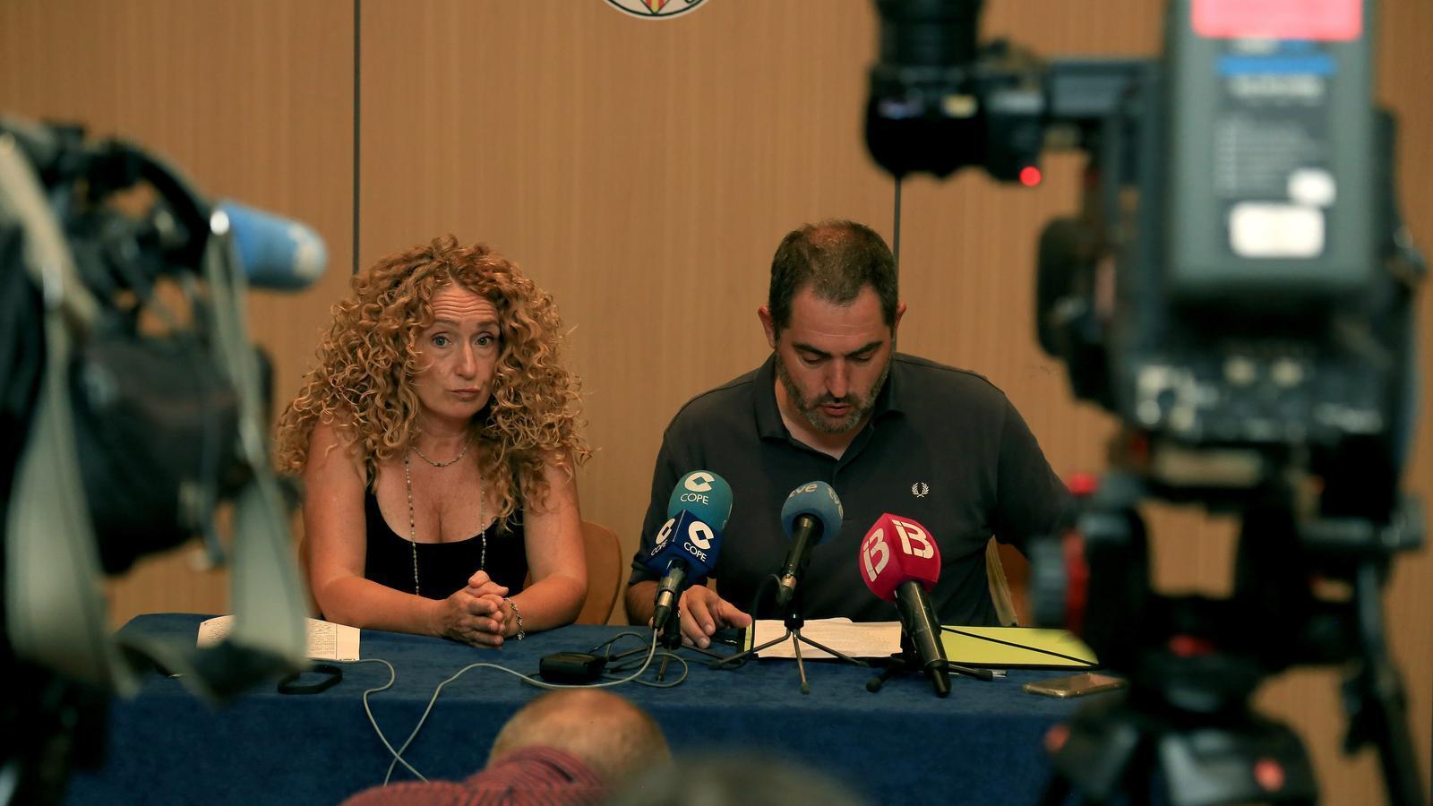 Paula Rotger en una roda de premsa que va fer per explicar el cas fa un mes a l'OCB.