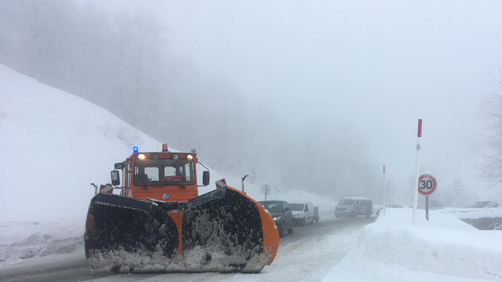 La carretera d'accés a Andorra des de França. / M.T.