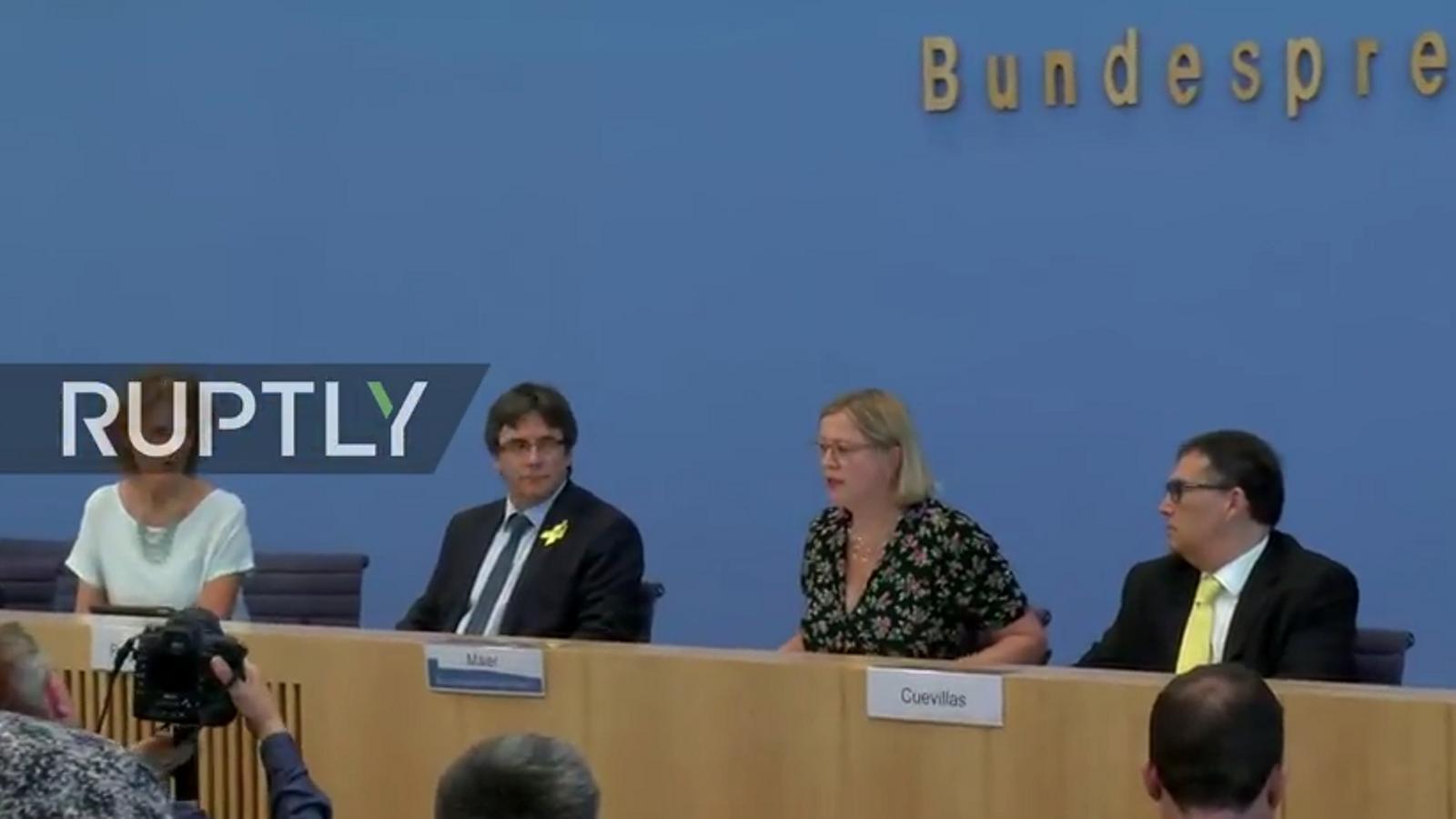 Roda de premsa de Carles Puigdemont des de Berlín