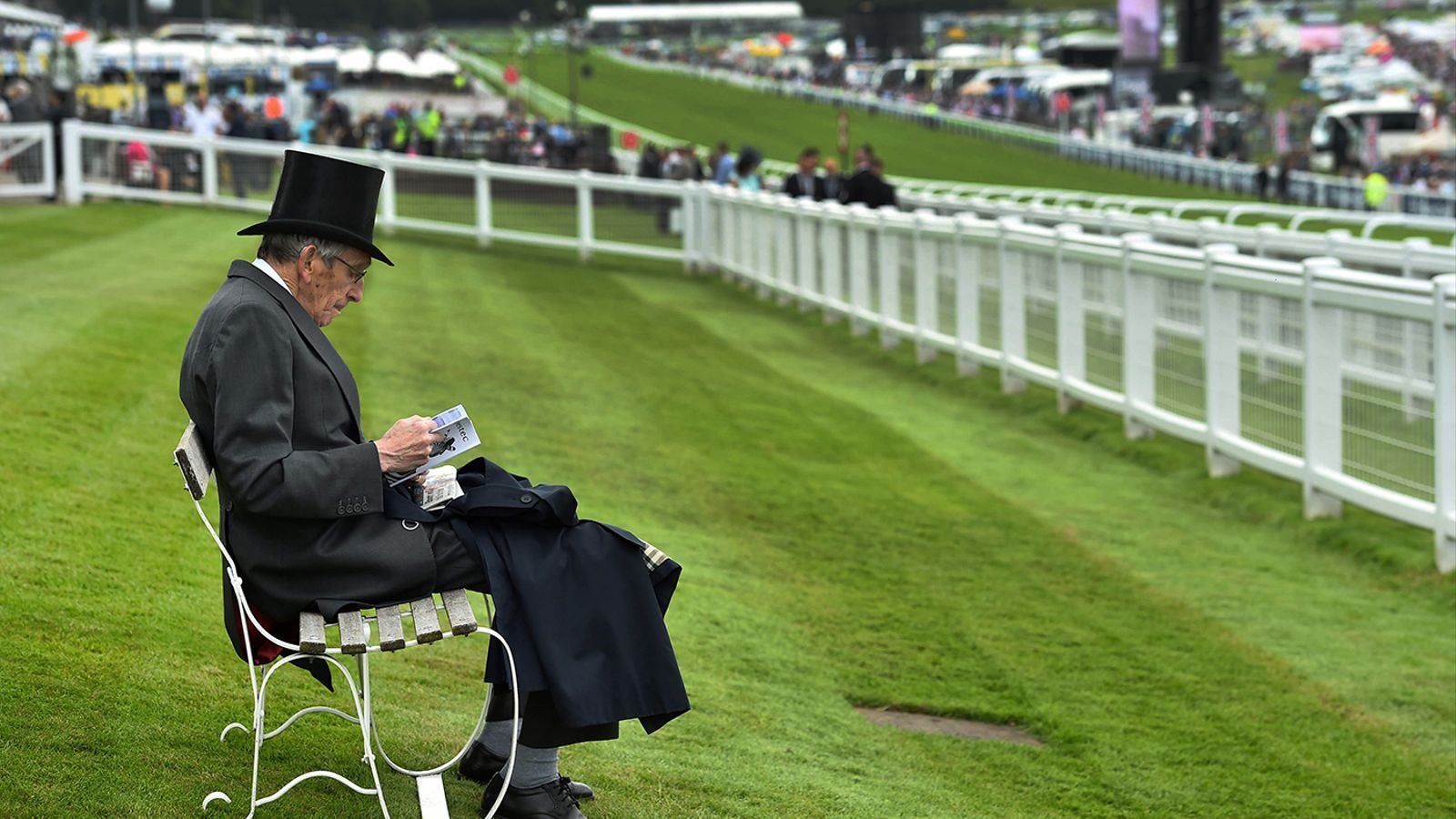 Second day of the Epsom Derby Festival in Surrey, south of England
