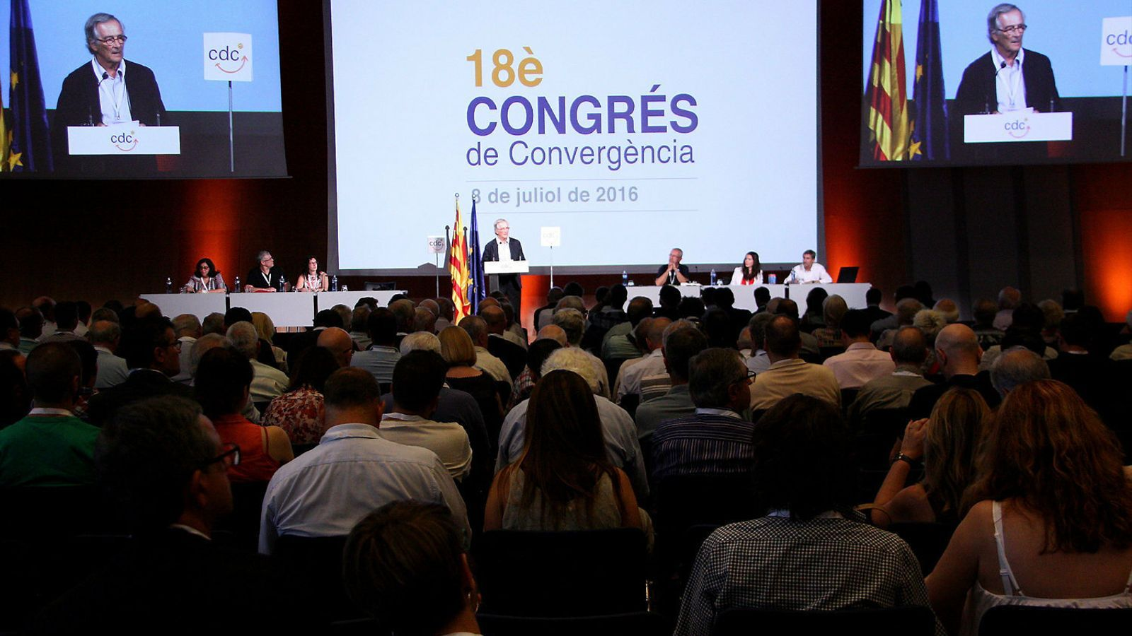 Últim congrés de CDC (juliol del 2016), on es va dissoldre el partit.