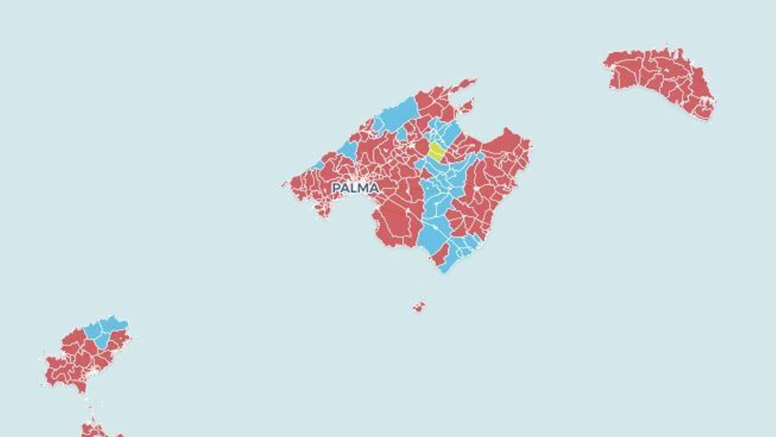 Els resultats electorals a les Balears, municipi per municipi en mapes interactius