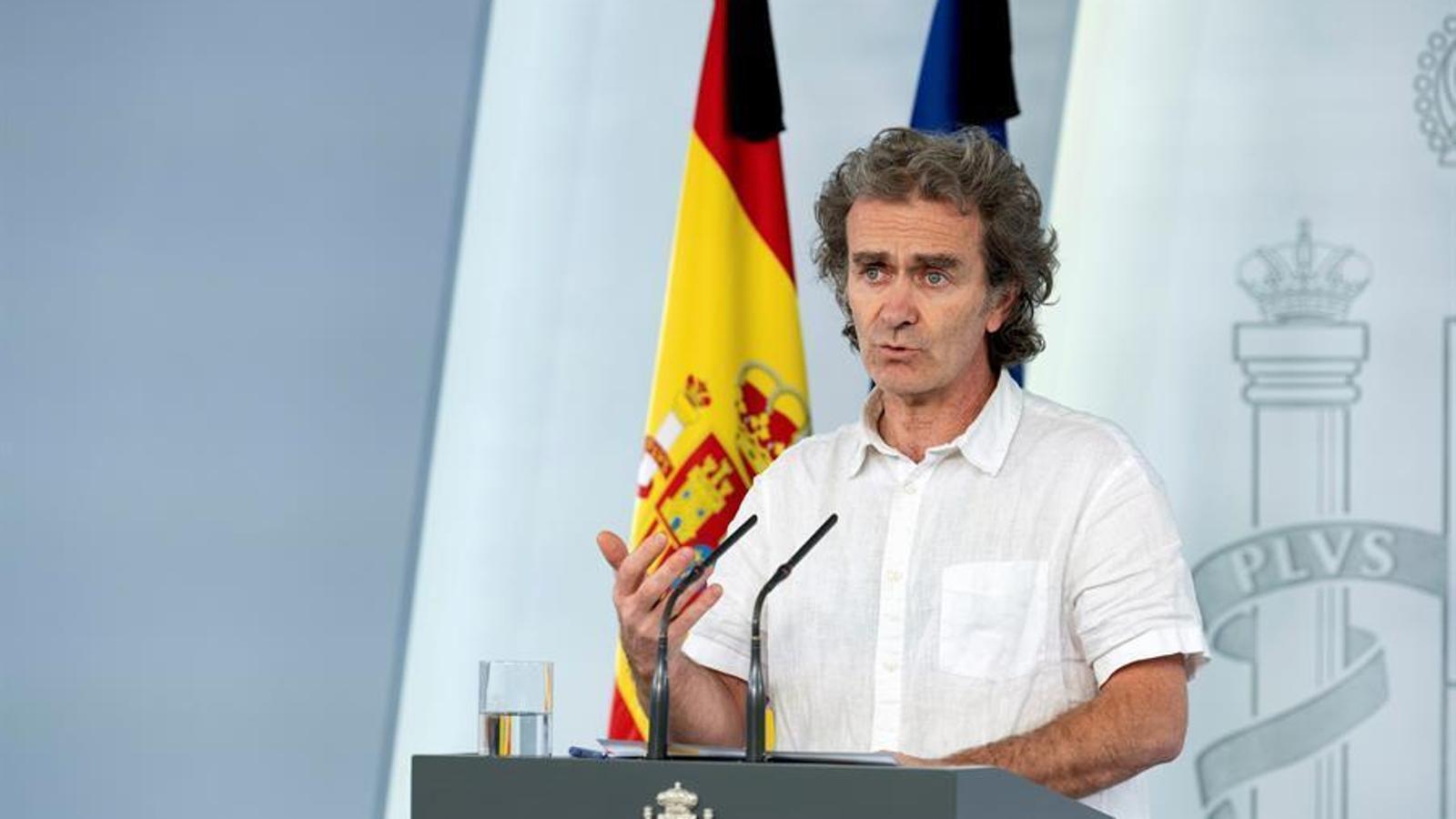 Roda de premsa del director del Centre de Coordinació d'Alertes i Emergències Sanitàries, Fernando Simon