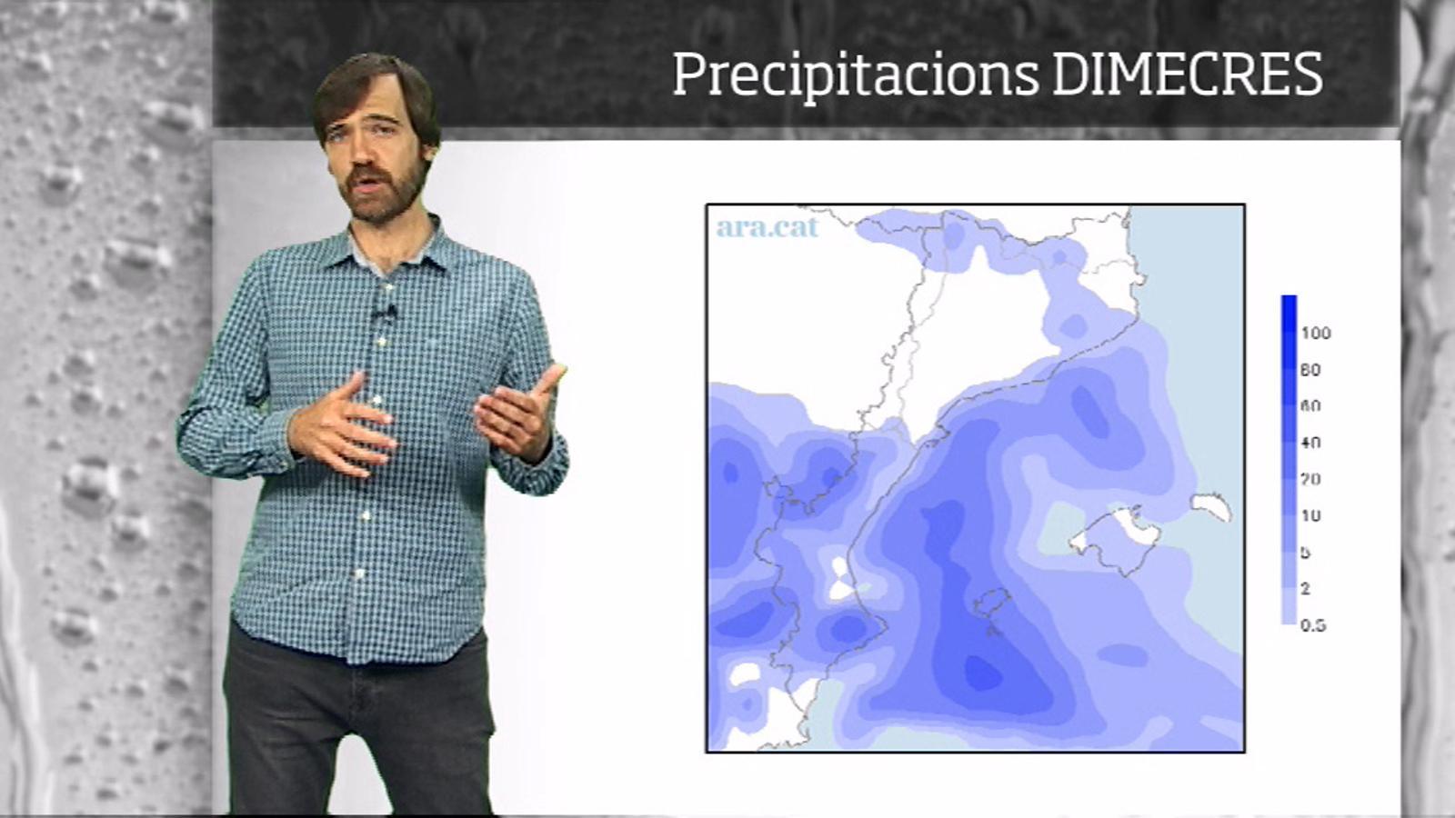 La méteo en 1 minut: temps insegur a l'est i ambient més de tardor