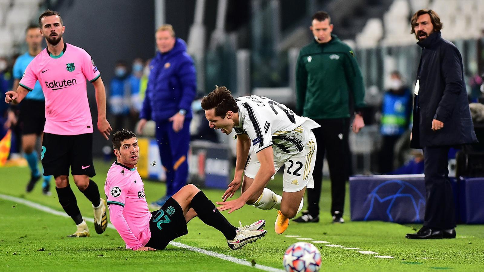 Sergi Roberto va ser el portaveu del vestidor després del partit.