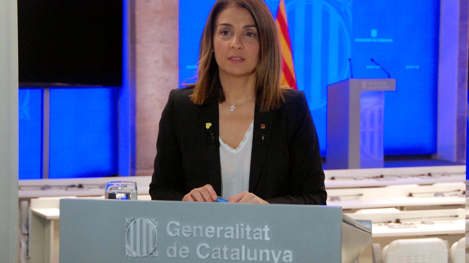 Roda de premsa del Govern sobre l'evolució del covid-19 a Catalunya