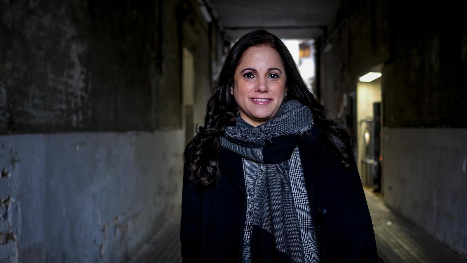 Idalmis Menéndez, en una fotografia d'aquest desembre a Barcelona