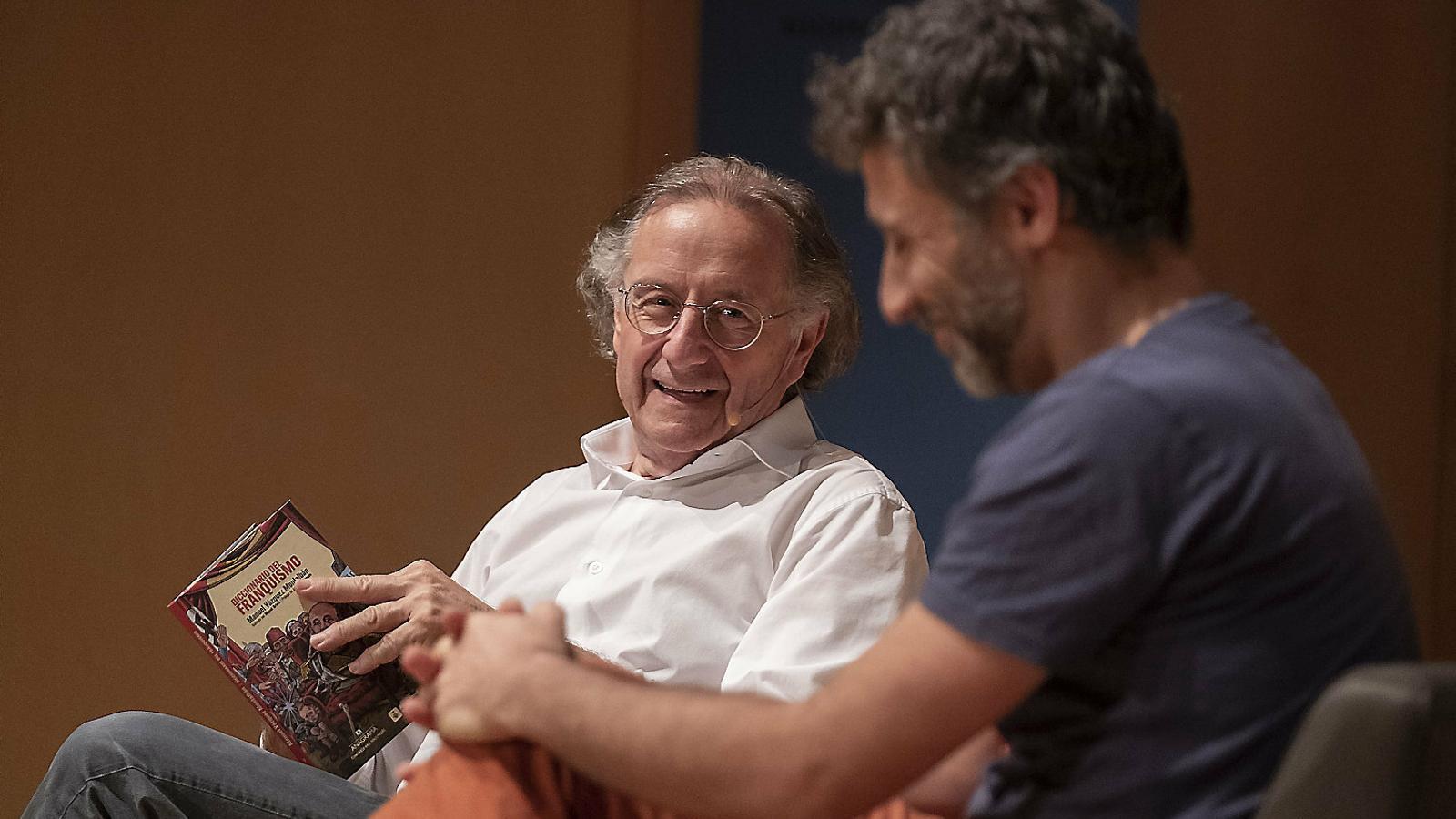 Josep Ramoneda  i Miguel Brieva, ahir.