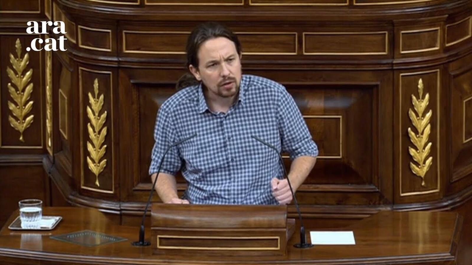 """Iglesias: """"respectin els nostres 3,7 milions de votants perquè no podem acceptar ser un decorat"""""""