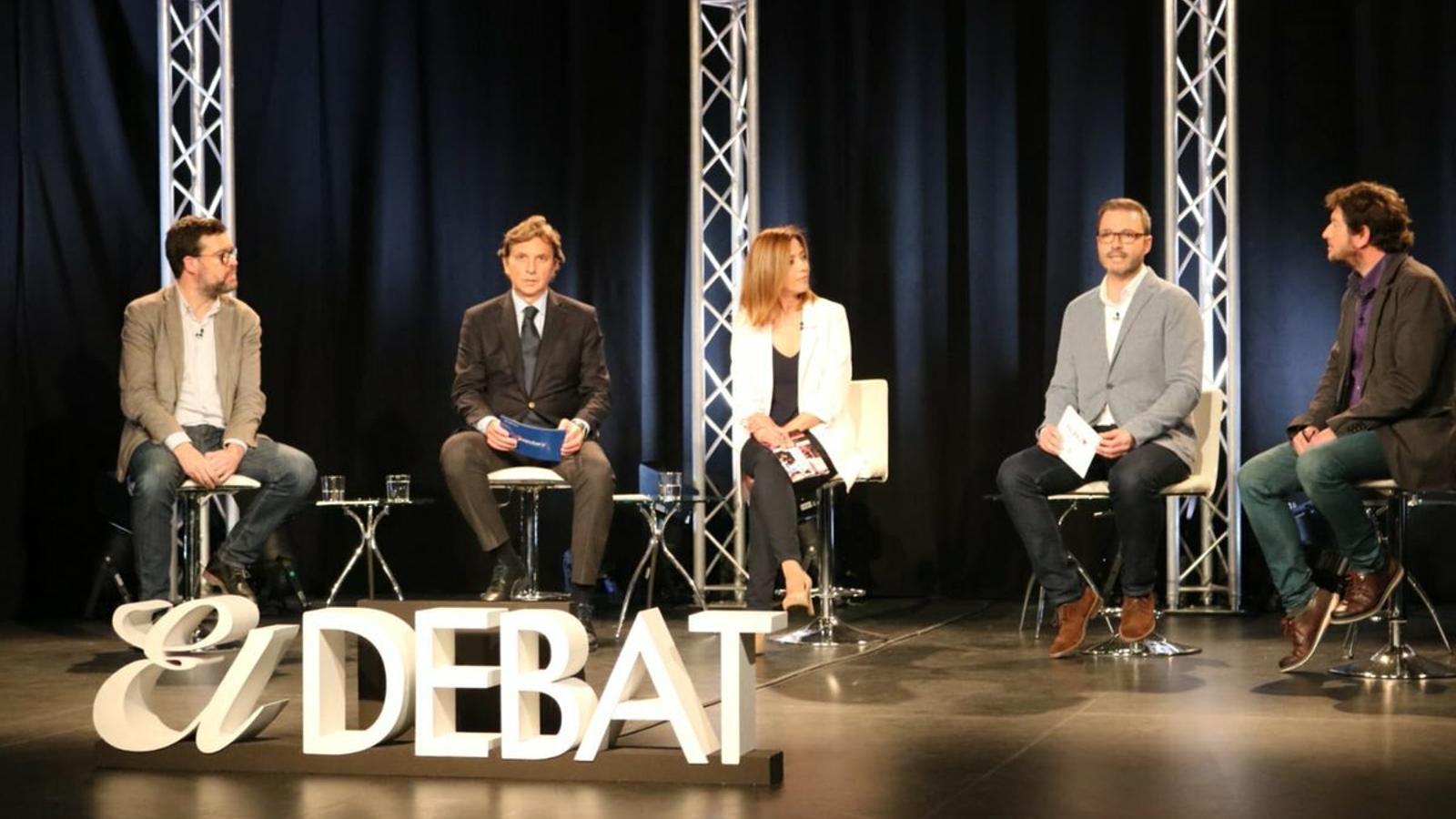 Els candidats a la batlia de Palma: Antoni Noguera, Mateu Isern, José Hila i Alberto Jarabo