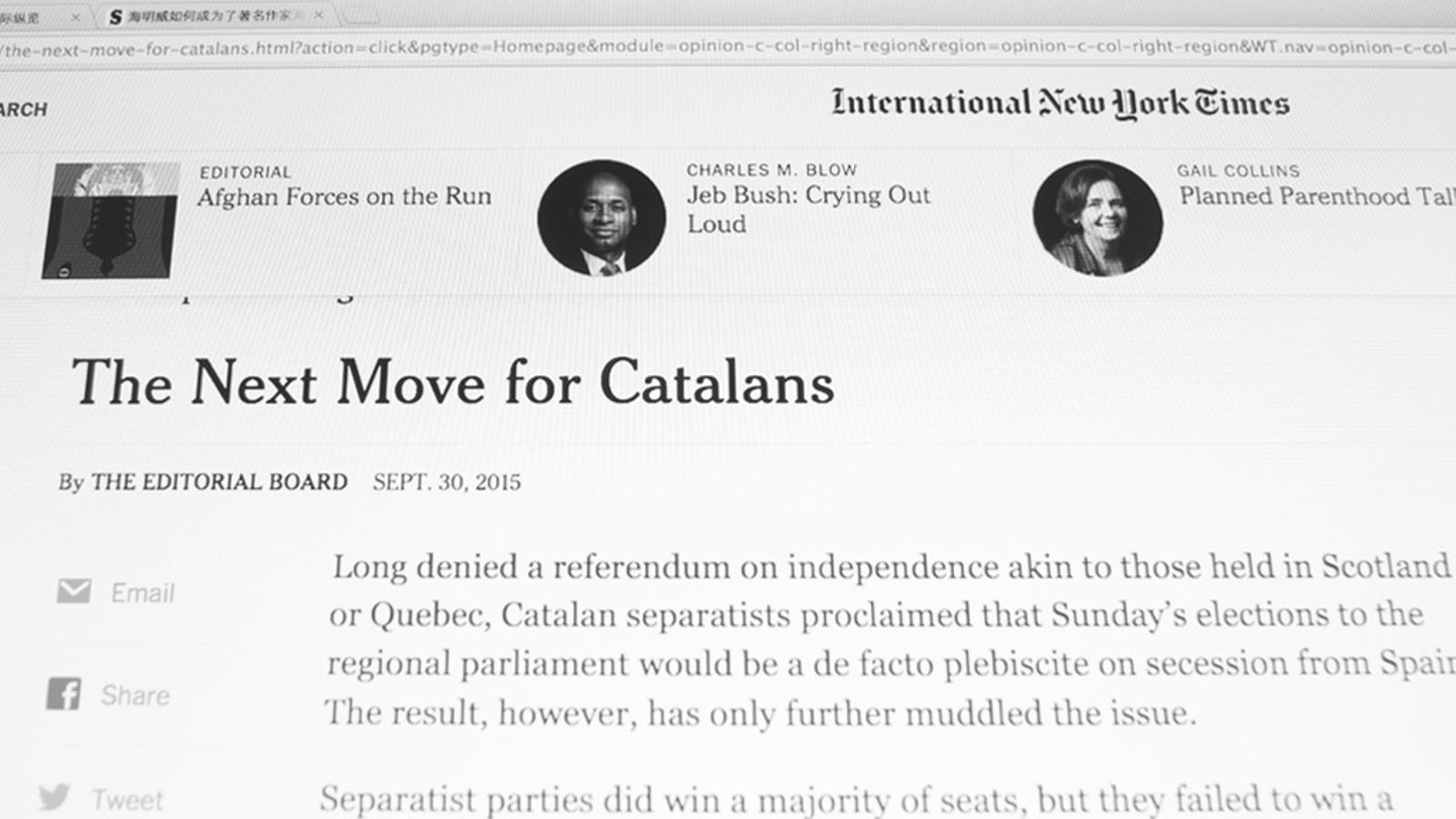 L'editorial d'Antoni Bassas: El 27-S, a escena internacional (01/10/2015)