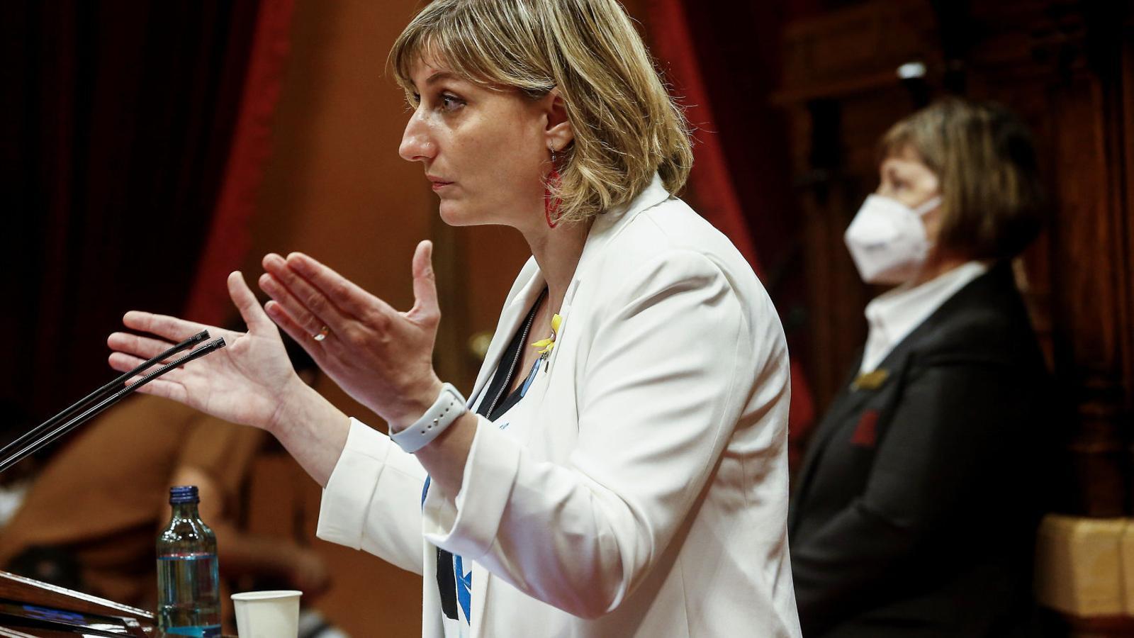 La consellera de Salut, Alba Vergés, durant el debat monogràfic sobre el coronavirus que es va fer al Parlament la setmana passada.
