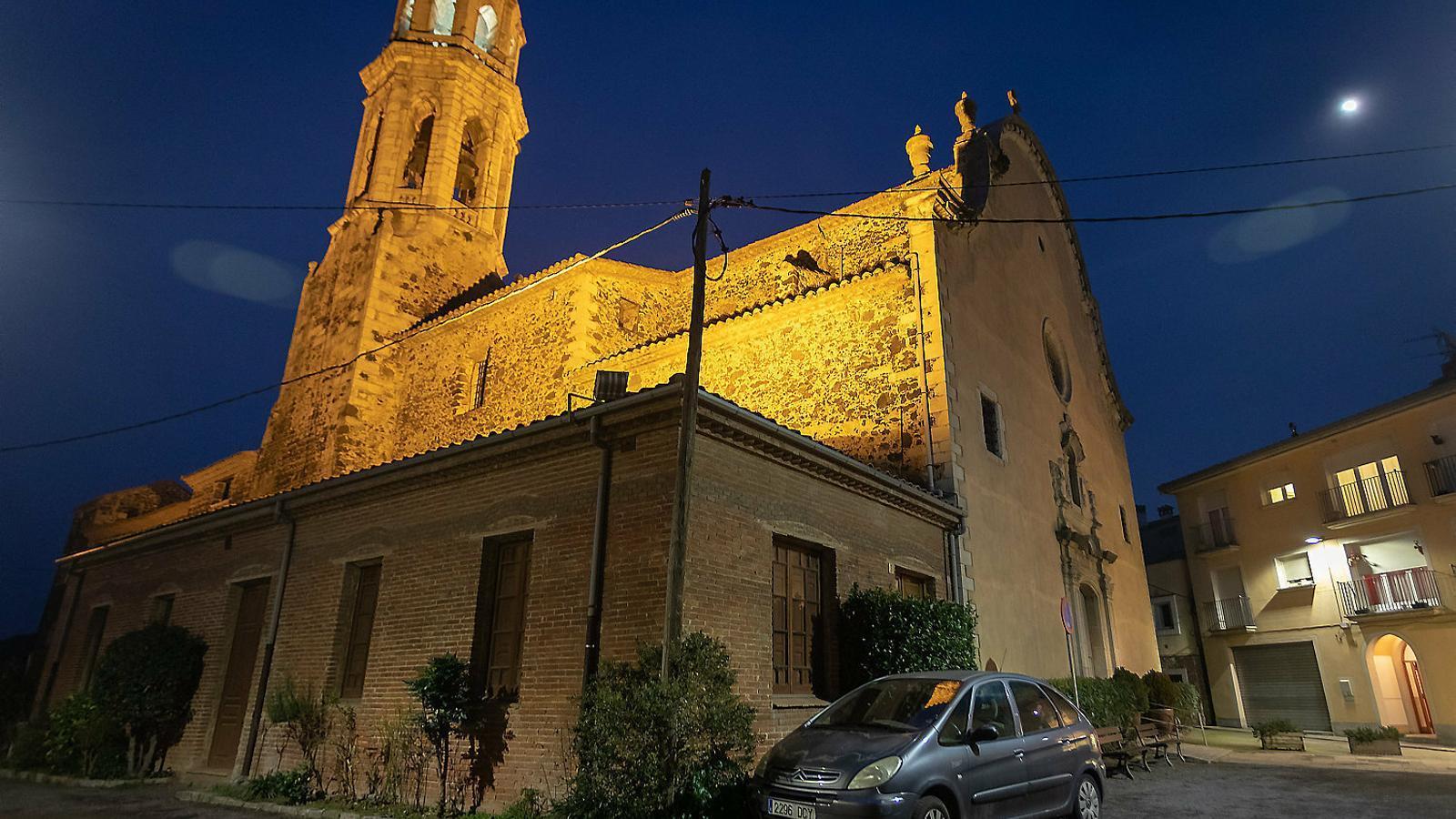 L'església de Violbí d'Onyar, on diverses persones van denunciar haver estat víctimes de tocaments de l'exmossèn / DAVID BORRAT