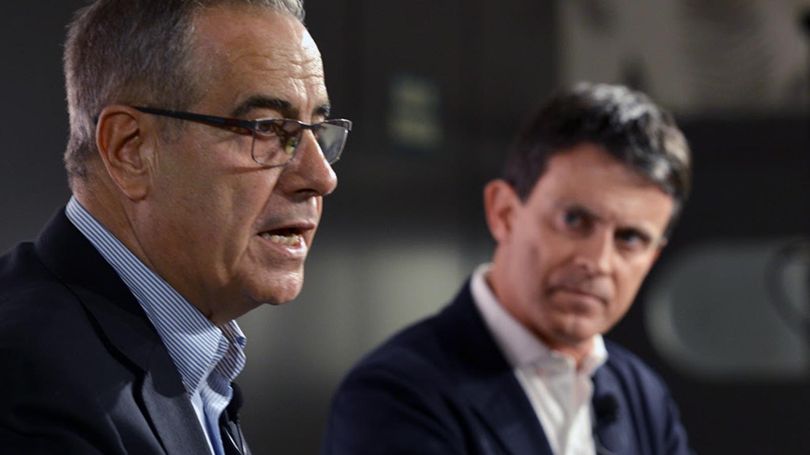 Celestino Corbacho i Manuel Valls, el febrer passat en una roda de premsa