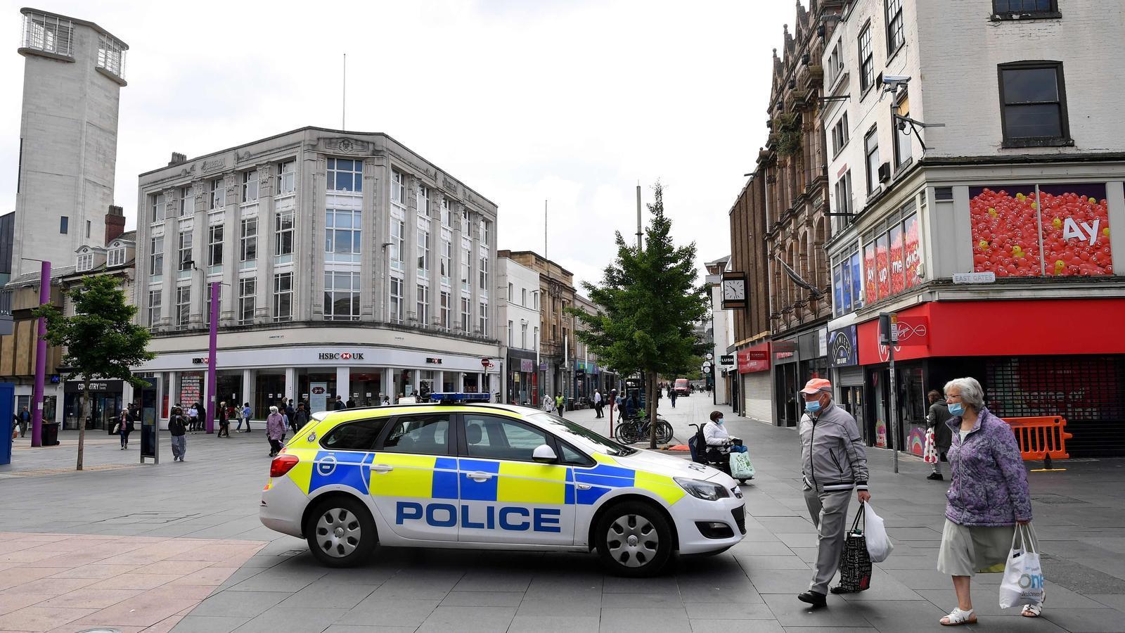 Una imatge del centre de Leicester, que aquest dilluns s'ha despertat de nou confinada