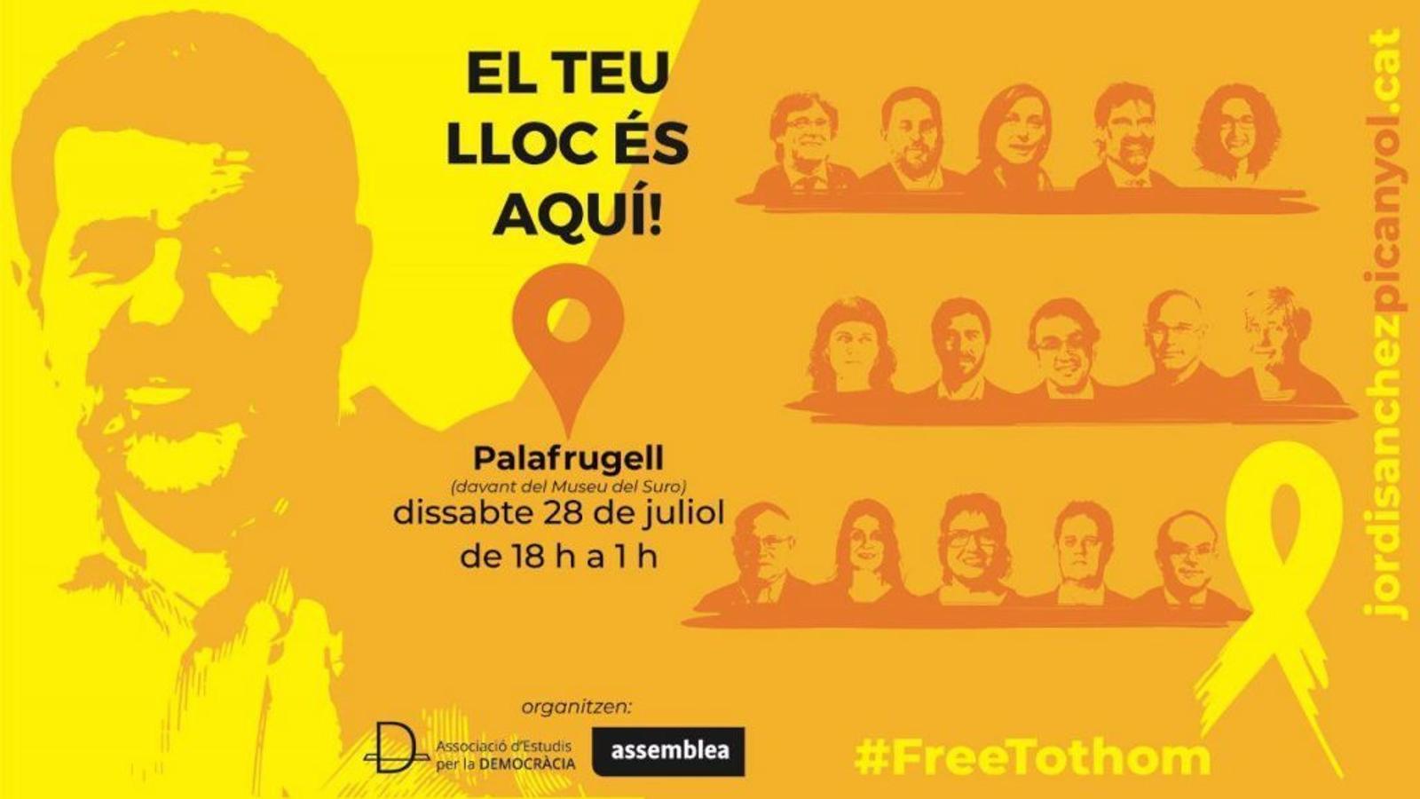 'El teu lloc és aquí': el concert solidari en homenatge a Jordi Sànchez a Palafrugell