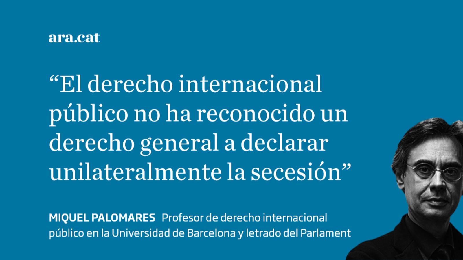 ¿Autodeterminación es secesión unilateral?