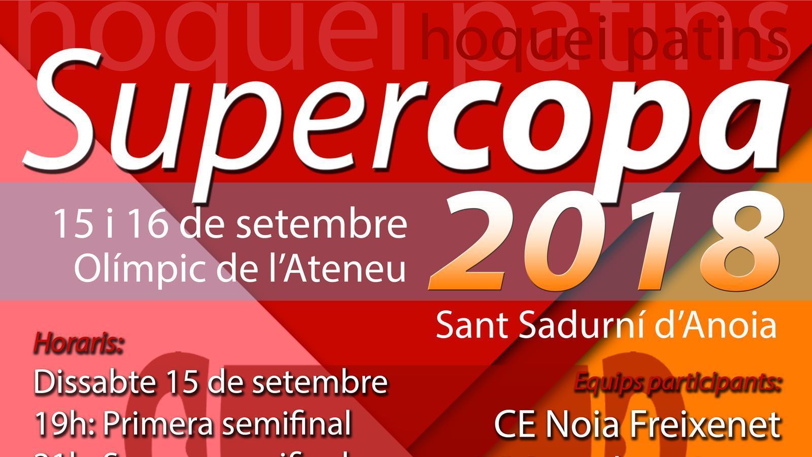 Cartell de la Supercopa d'Espanya 2018