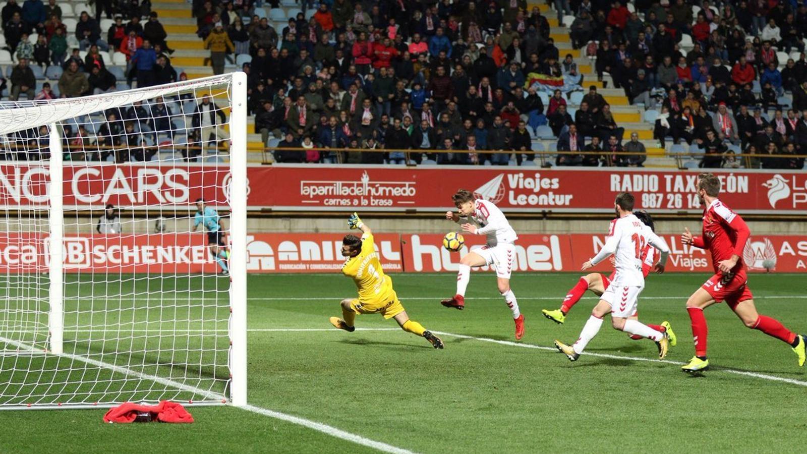 La Cultural Leonesa ha marcat dos gols