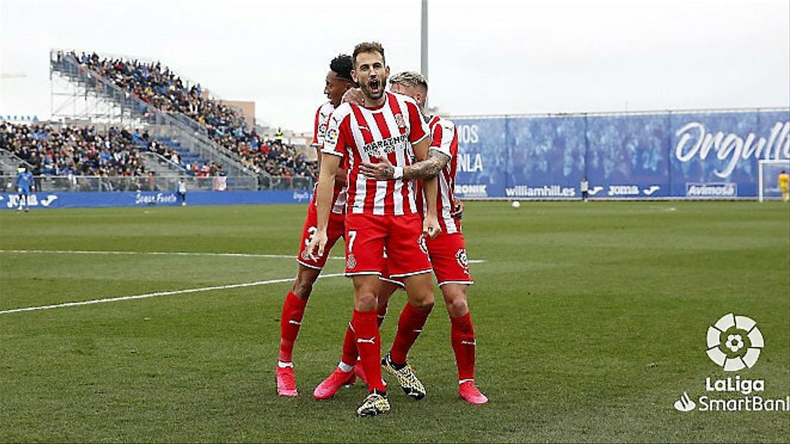 El davanter del Girona Cristhian Stuani celebrant un gol.