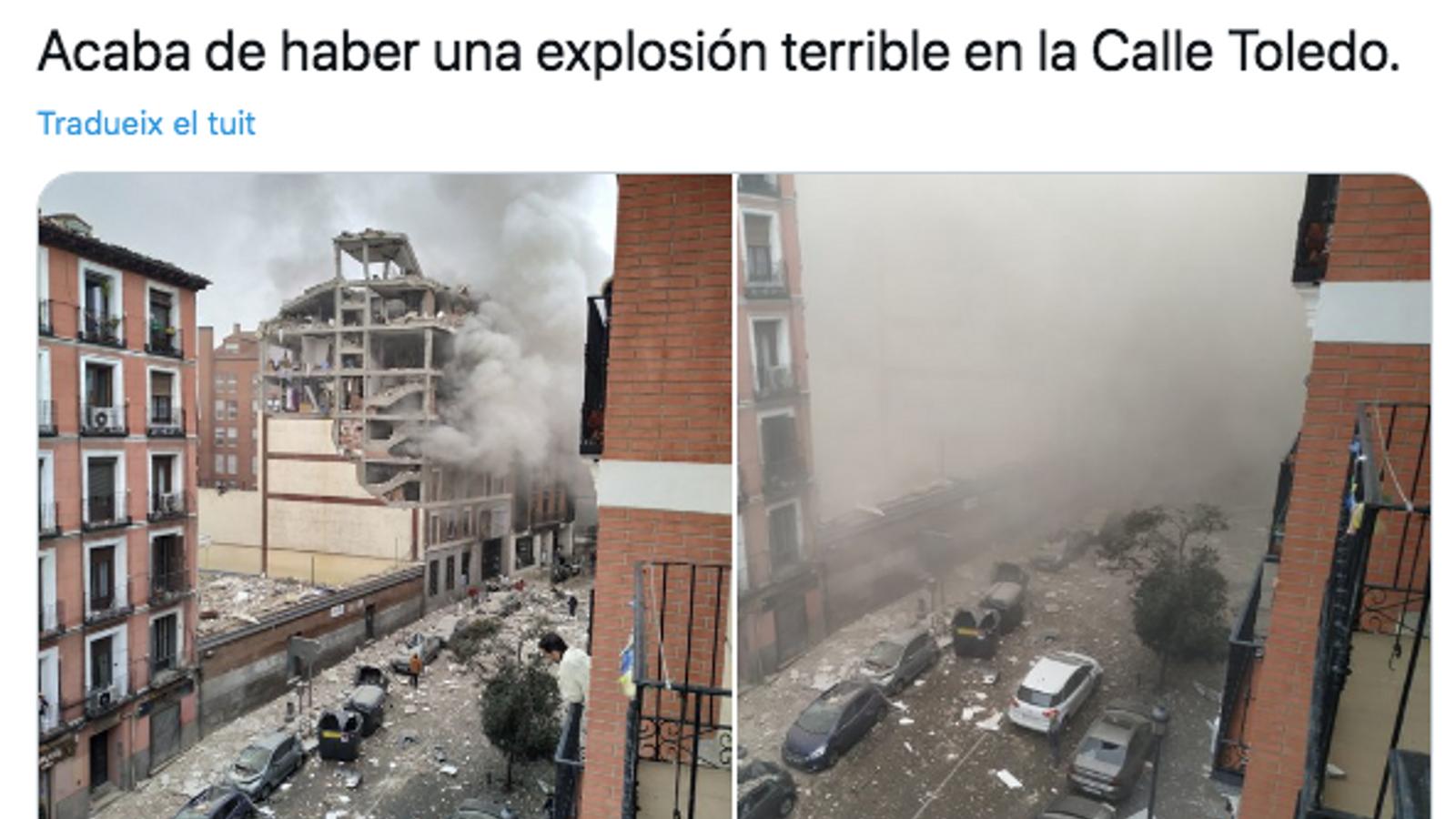 Explosió en una residència de gent gran a Madrid