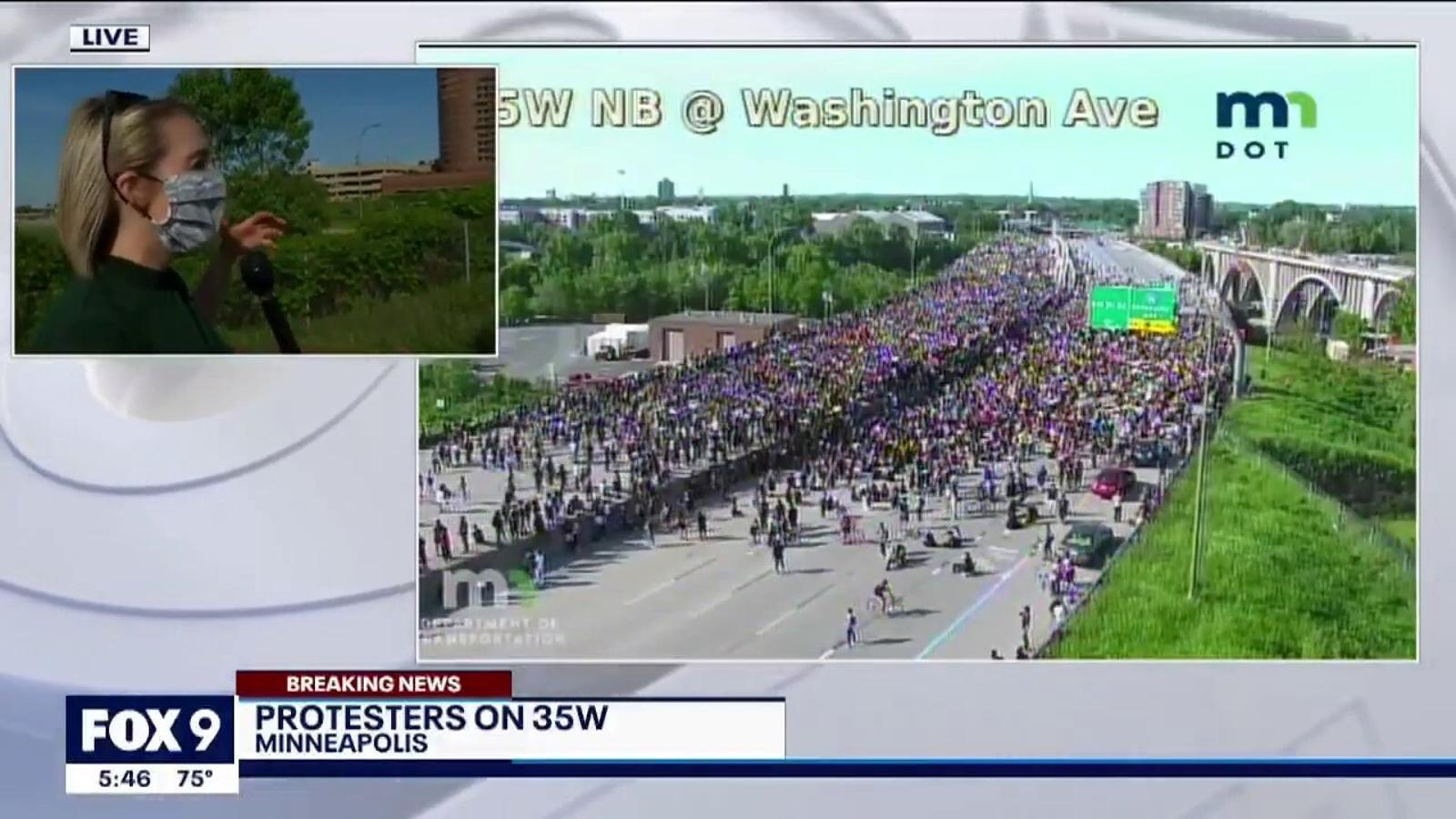 Camio embesteix multitud a Minneapolis, assassinat george Floyd