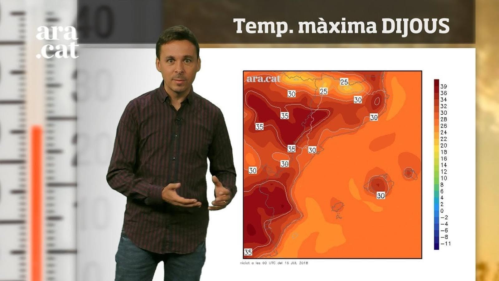La méteo en 1 minut: màximes de més de 35 graus abans d'un nou canvi de temps