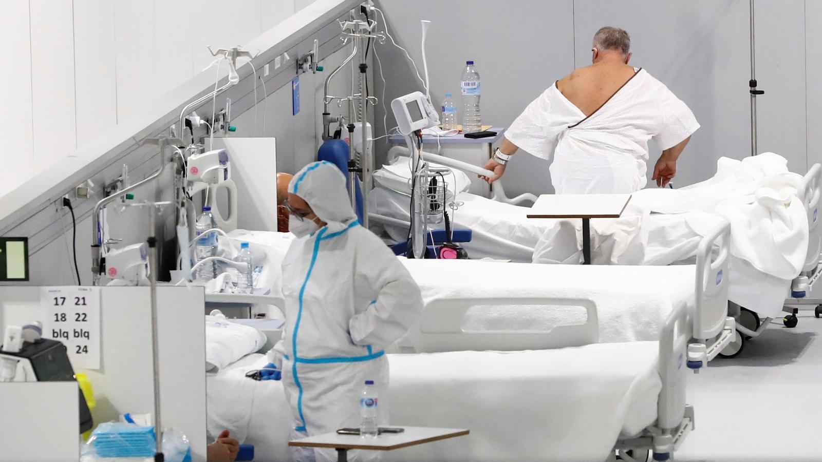 Interior del nou hospital de pandèmies Isabel Zendal, inaugurat recentment a Madrid
