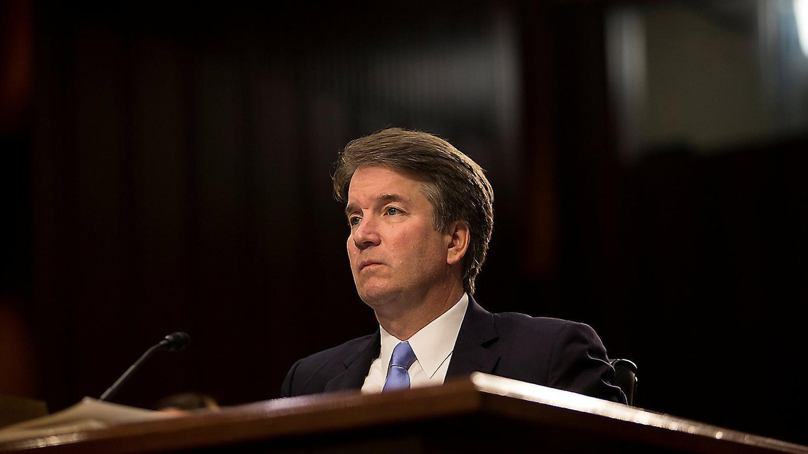 Brett Kavanaugh, el jutge candidat del president Donald Trump al Tribunal Suprem, durant una de les audiències que va fer ara fa uns dies al Senat.