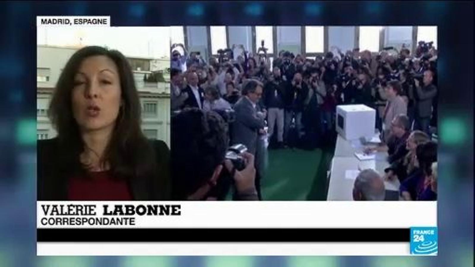 El 9-N a France 24: Un èxit total, segons el president Mas