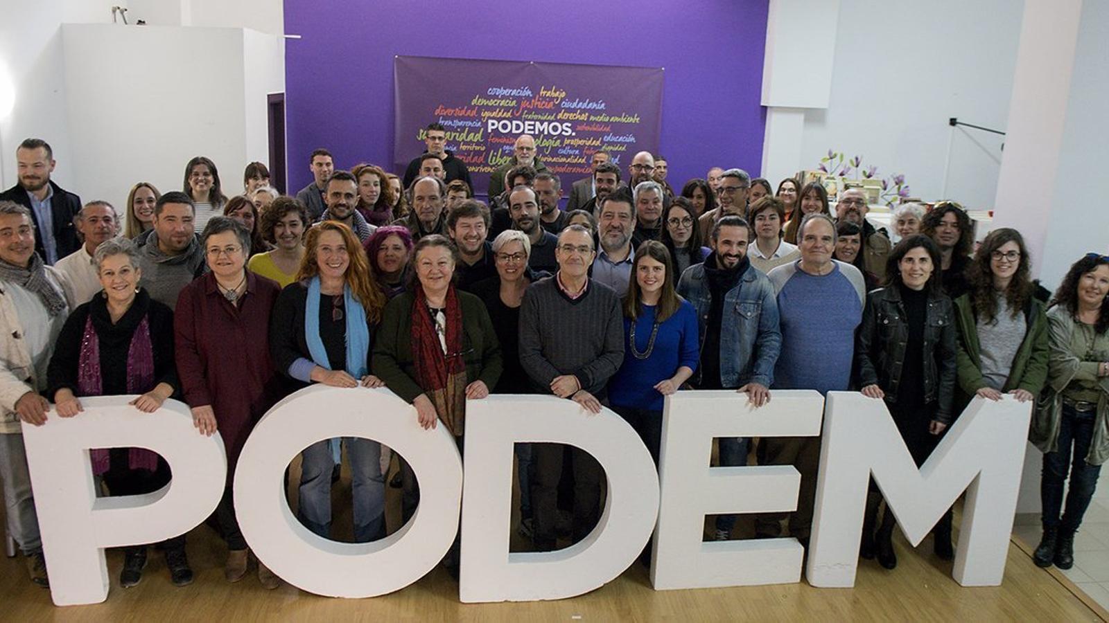 Primera reunió de candidats de Podem, a Palma.